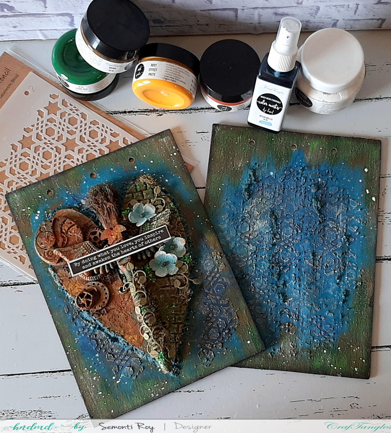Altered Journal Cover - Mixed media technique 1