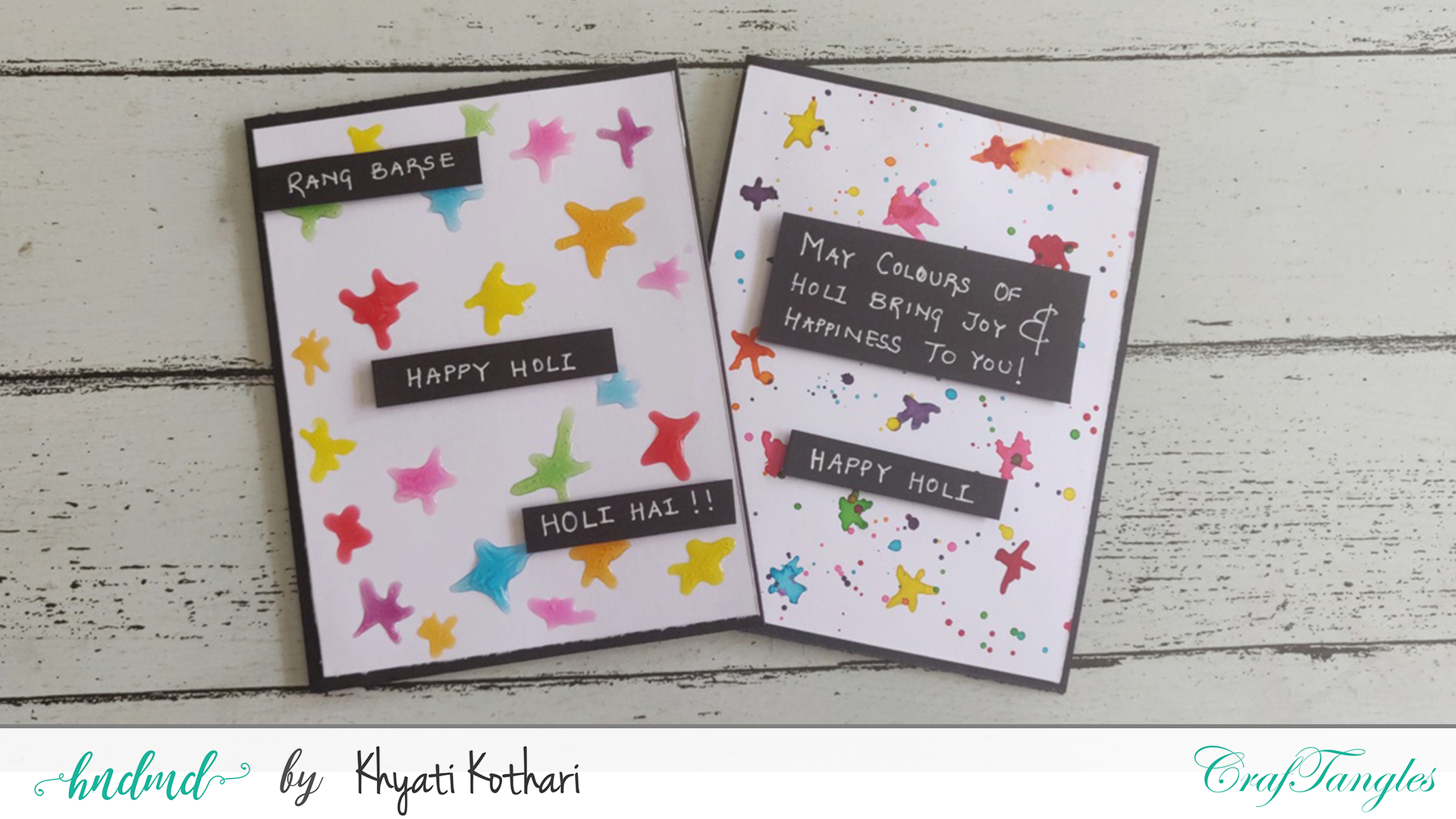 How to make easy cards using basic supplies 6