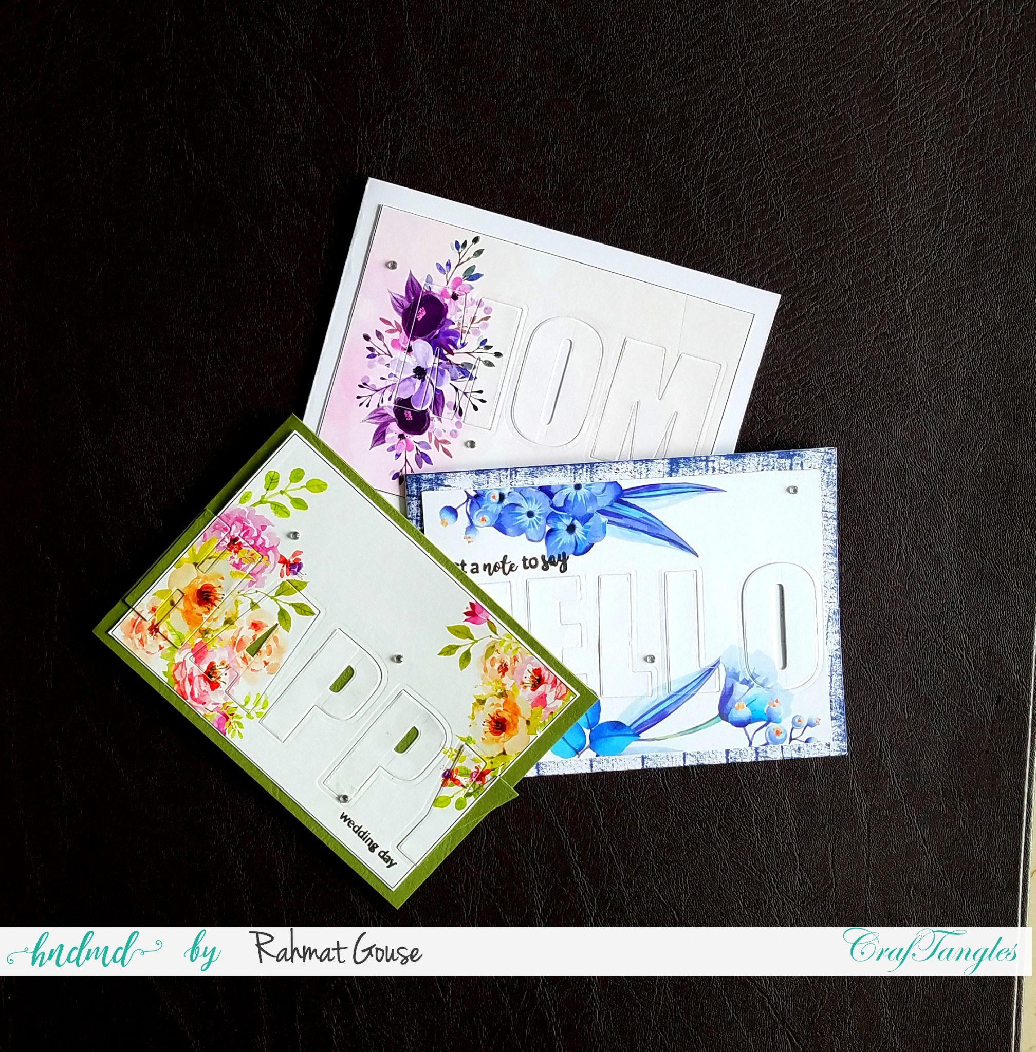 Quick card making ideas - DIY tutorial 4