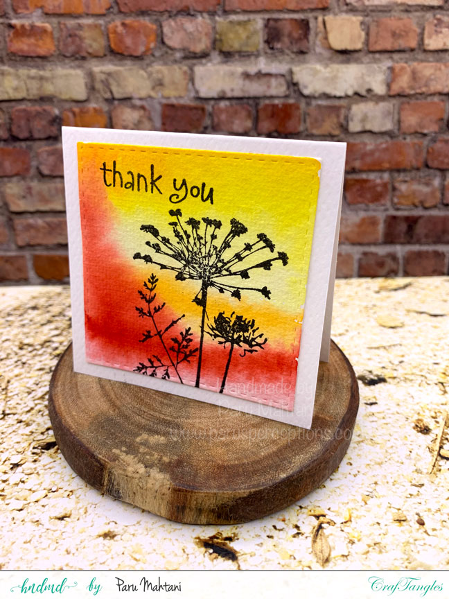 Watercolour mini note cards 4