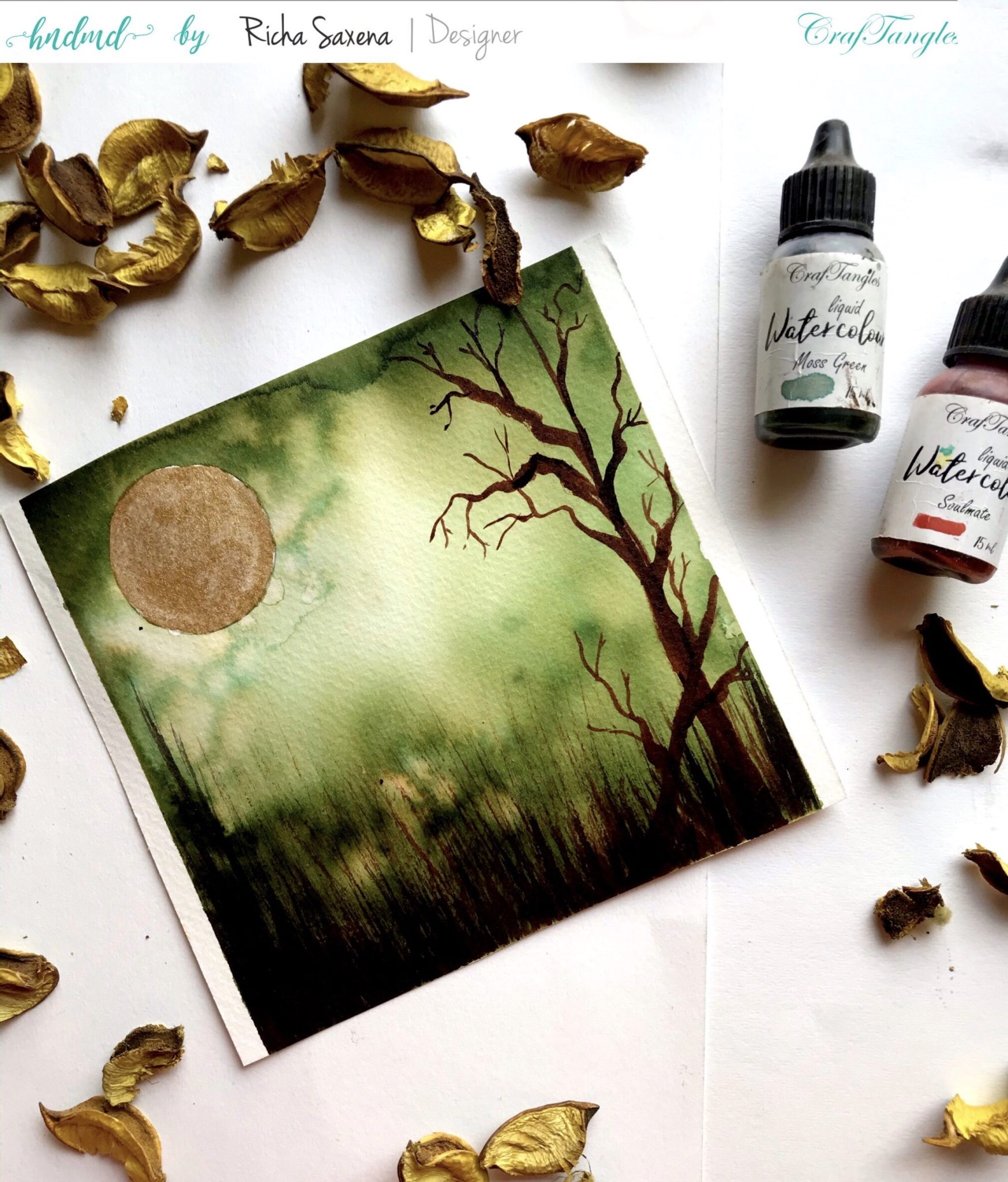 Easy Watercolour painting 4