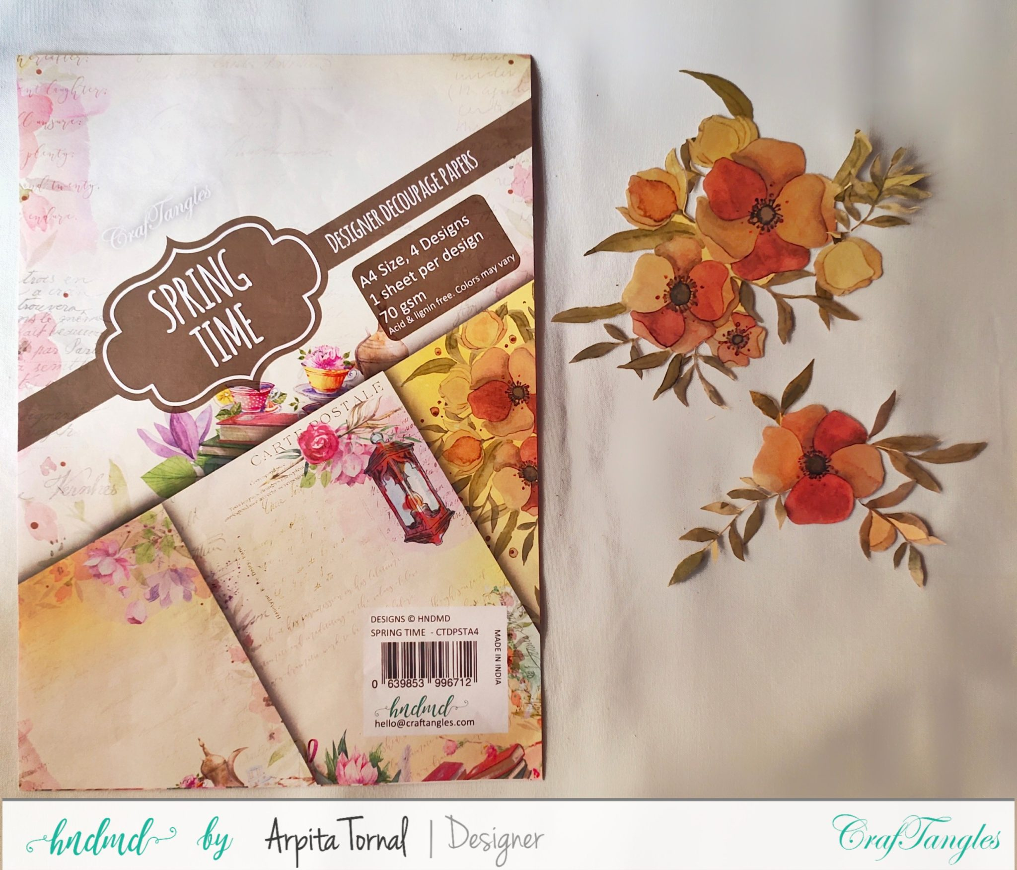 Decoupage tutorial step by step Faux Wood Background 4