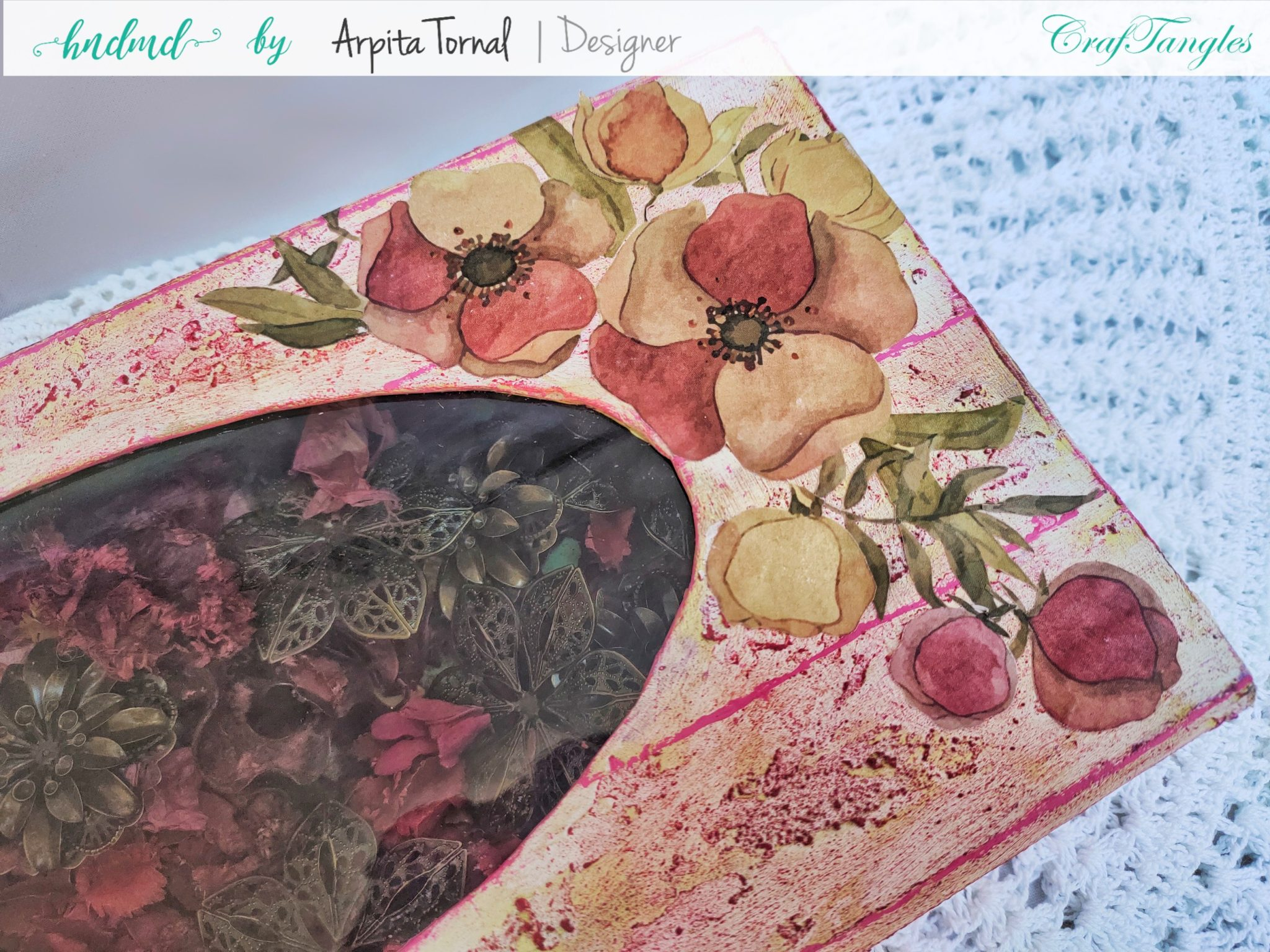 Decoupage tutorial step by step Faux Wood Background 6