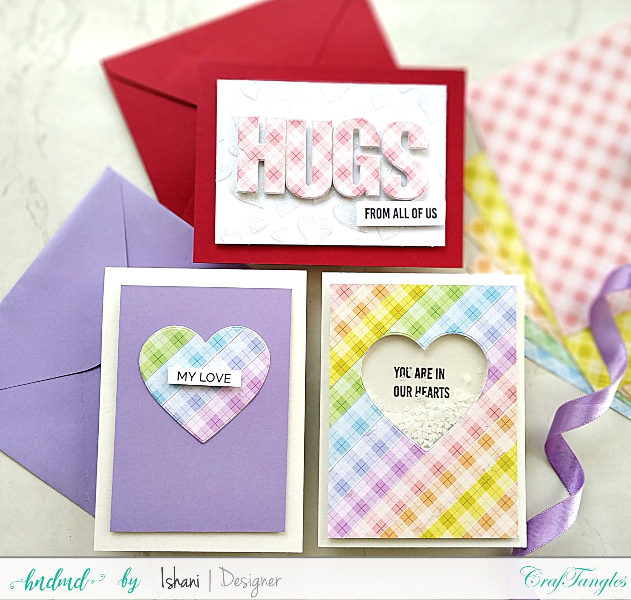 pretty plaid pattern paper cards