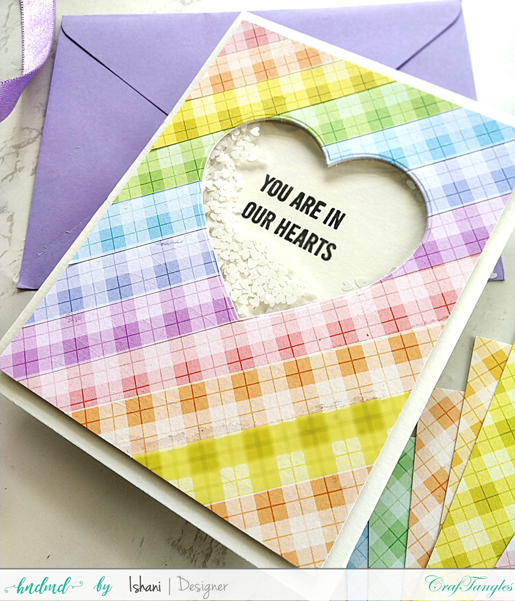 3 Easy Cards with Plaid Pattern paper 4