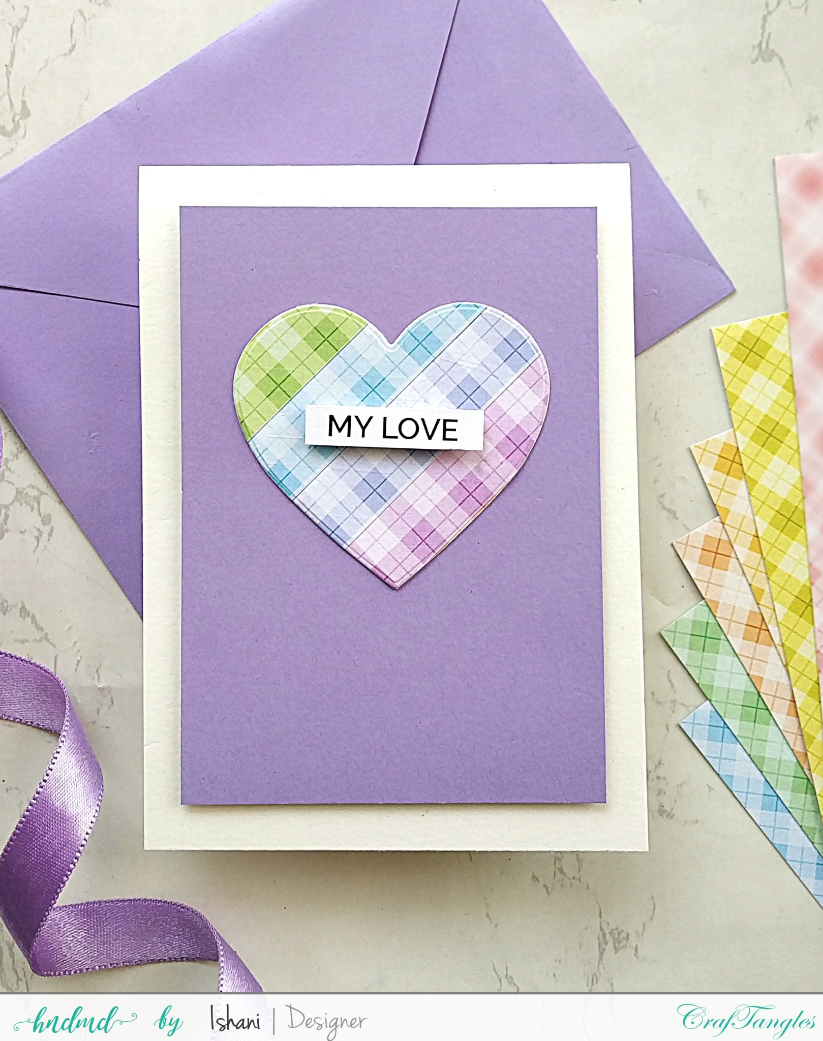3 Easy Cards with Plaid Pattern paper 7
