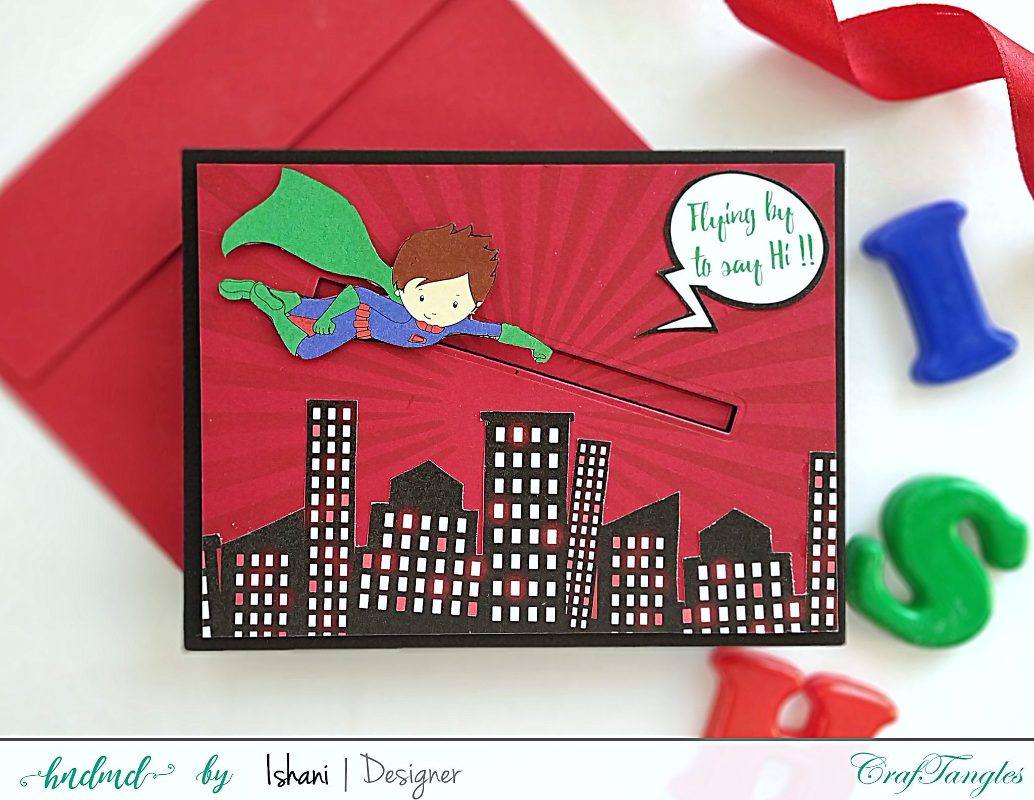 3 Quick Superhero cards - with Video tutorial 6