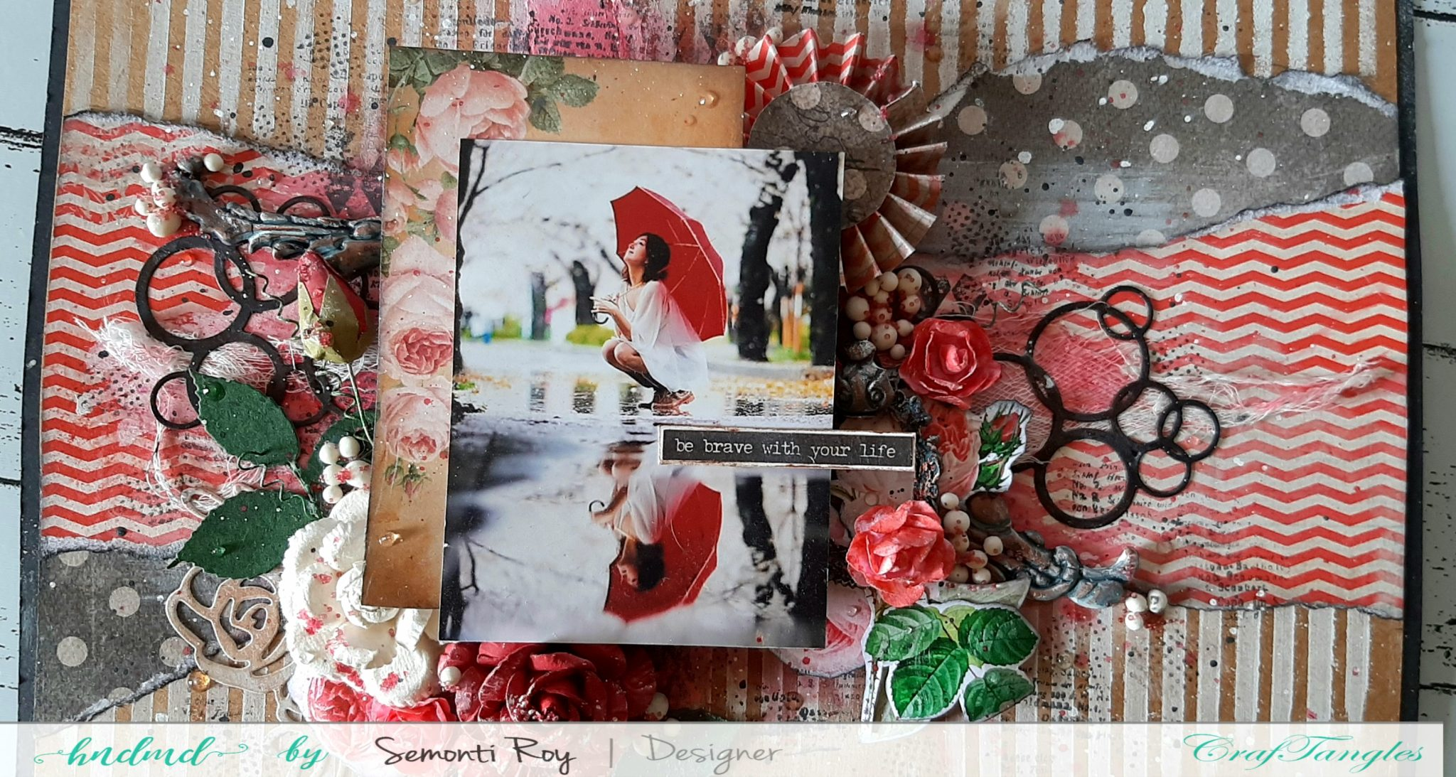 Mixed media layout 9
