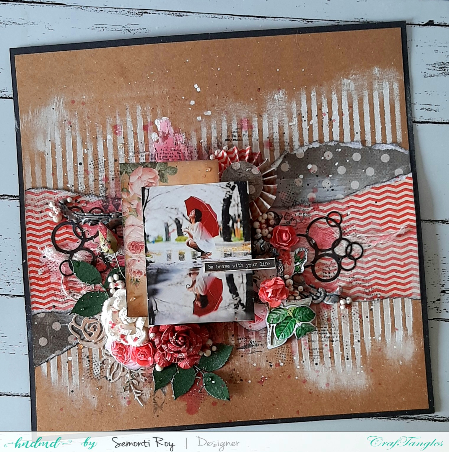 Mixed media layout 1