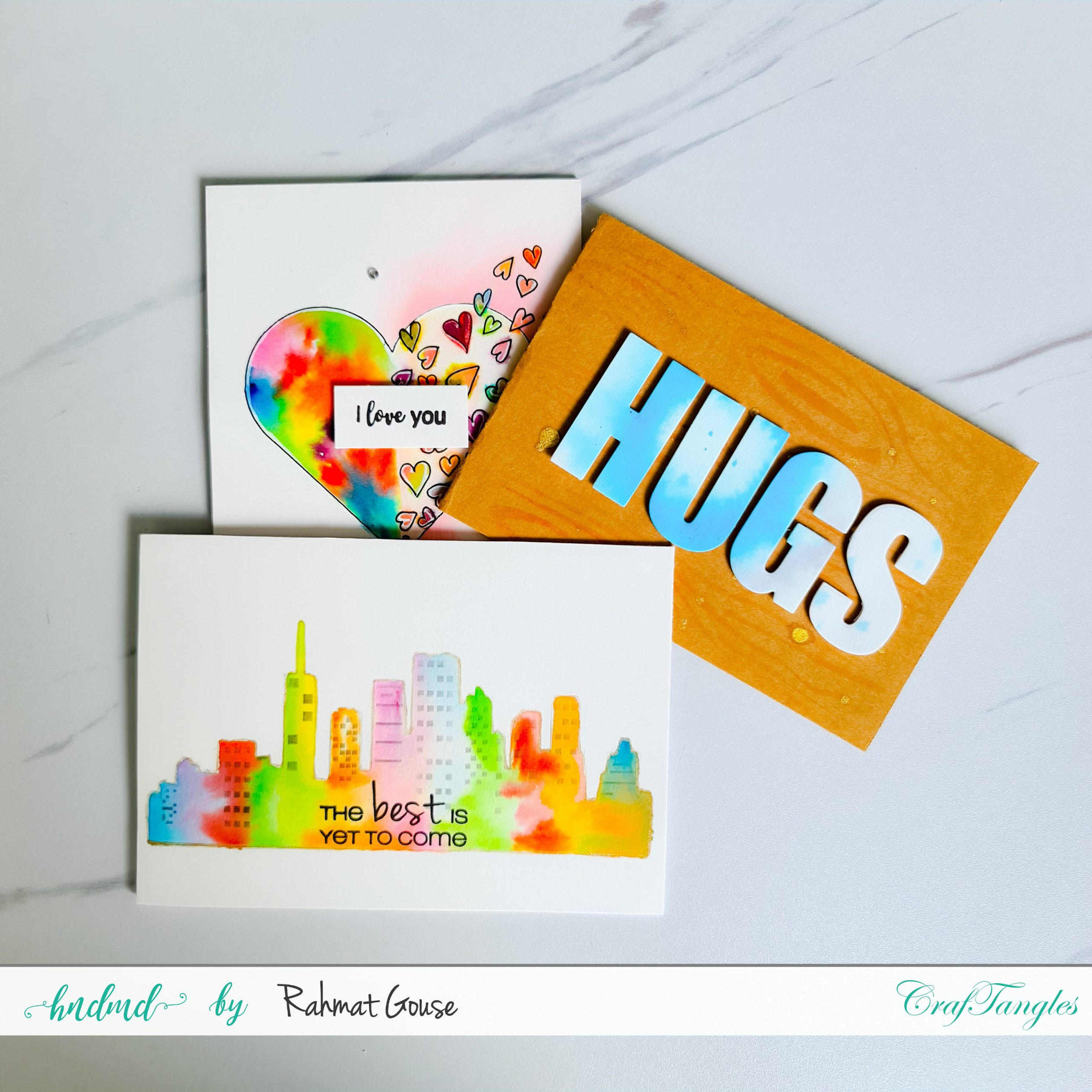 stencils and watercolors
