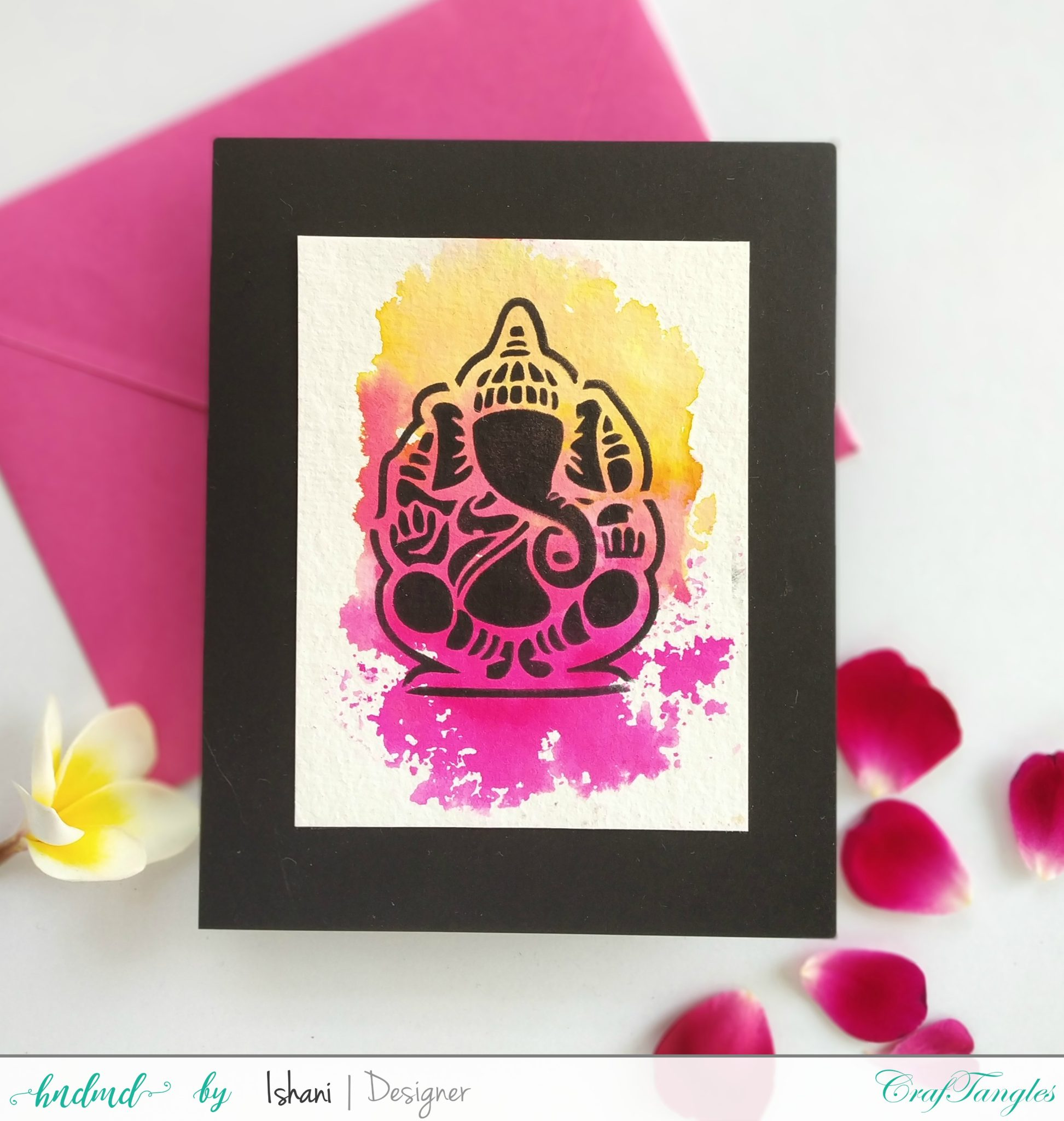 Indian themed cards - with Watercolours 3