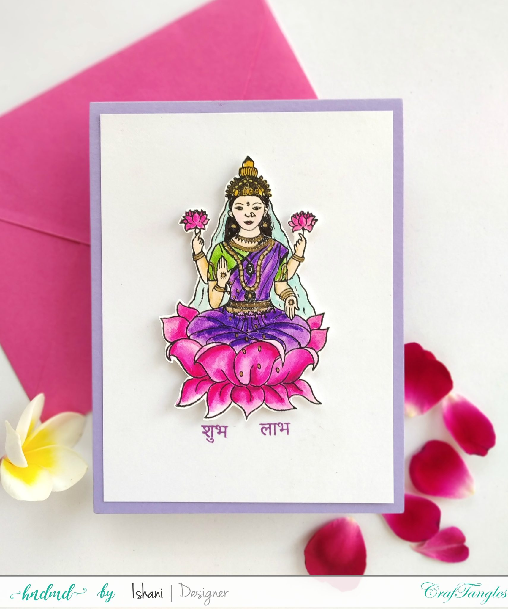 Indian themed cards - with Watercolours 7
