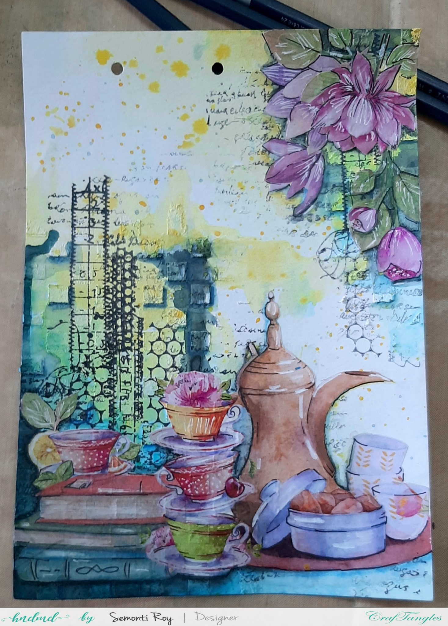 Art Journal Page with Watercolor 8
