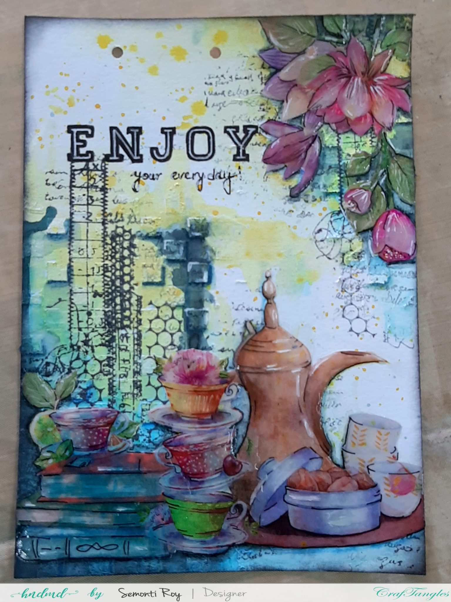 Art Journal Page with Watercolor 9