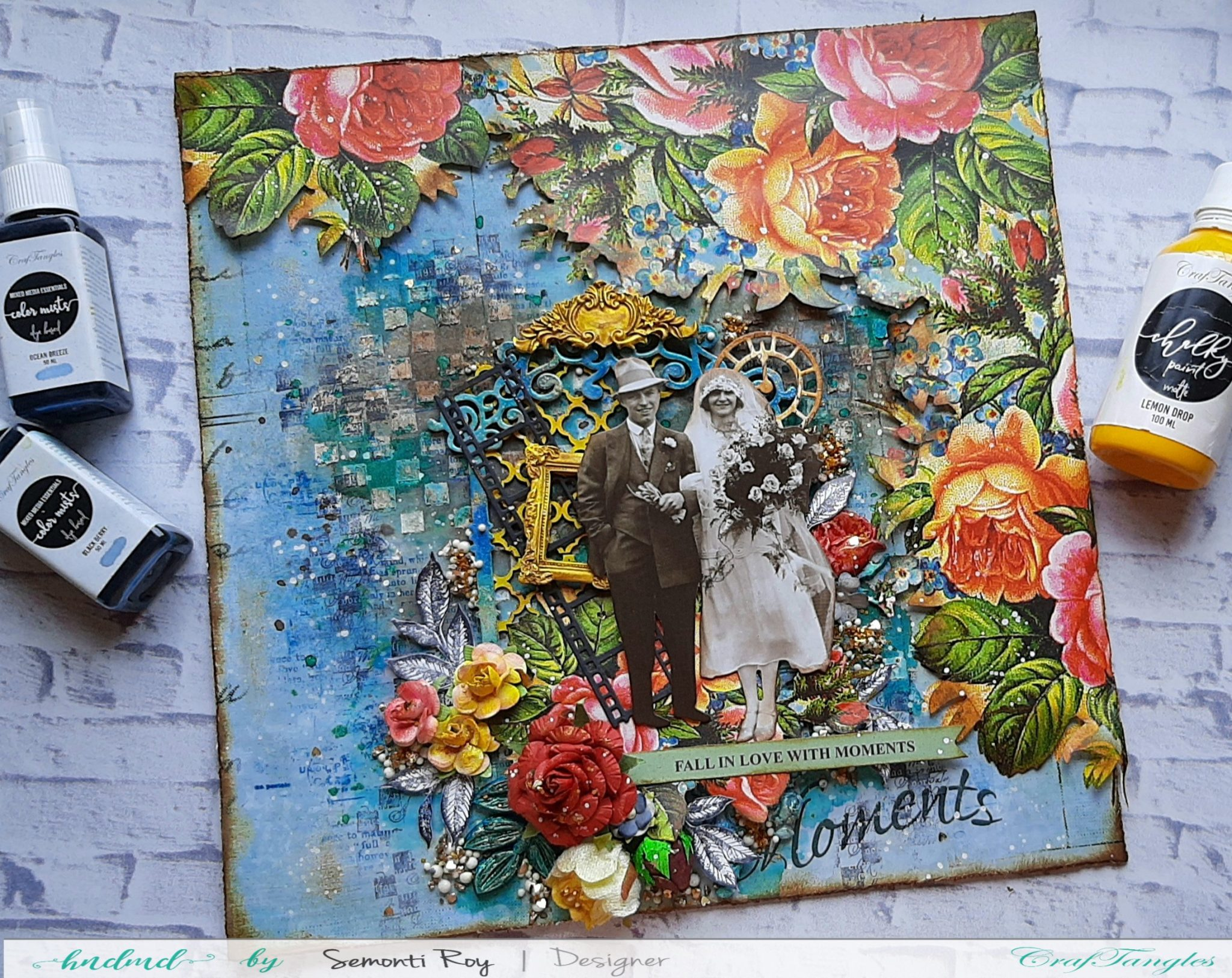 Mixed media layout with process video 1
