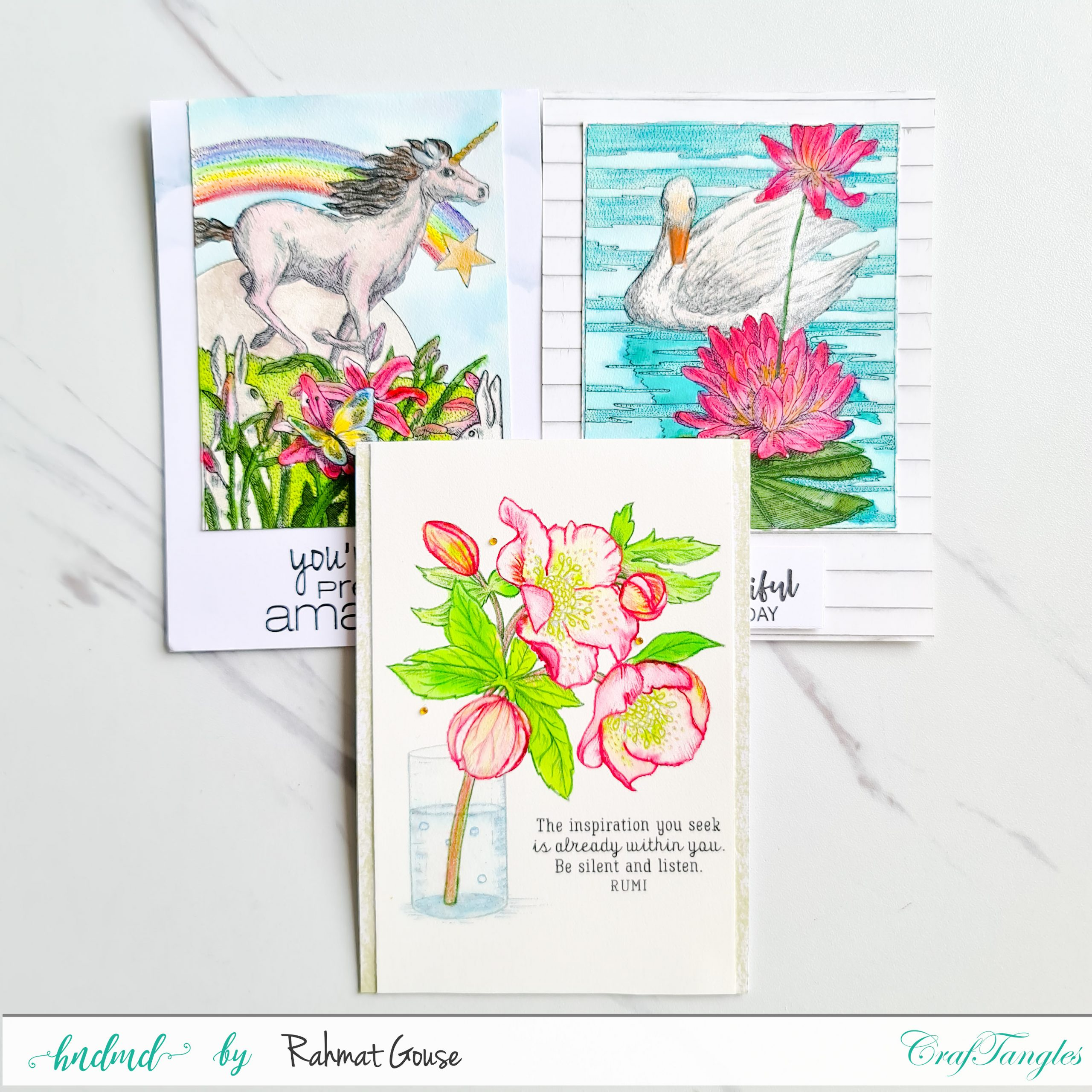 Fun Cards with Liquid Watercolors 1