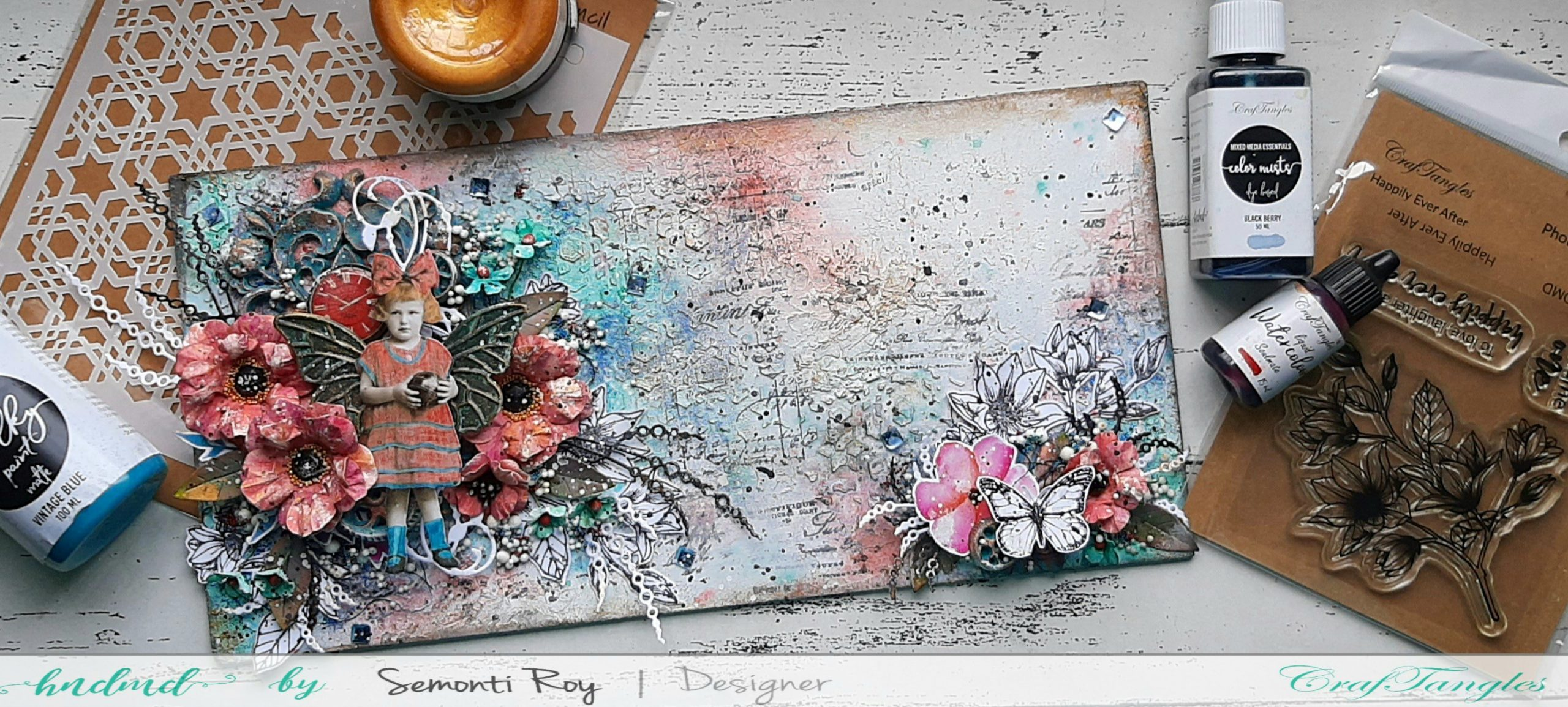 Mixed media plaque with video tutorial 1