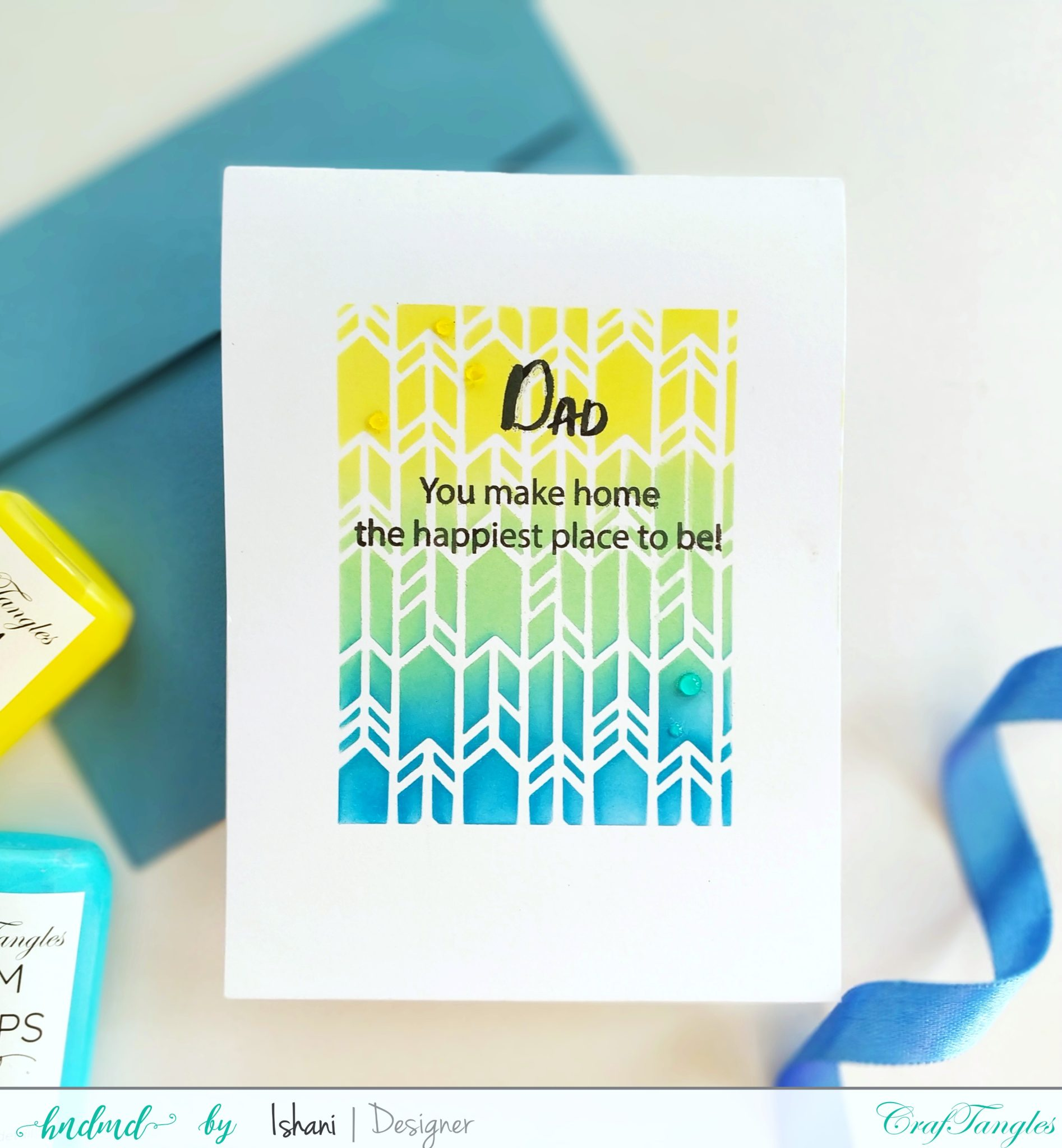 Layer those Stencils for Clean and simple cards 4