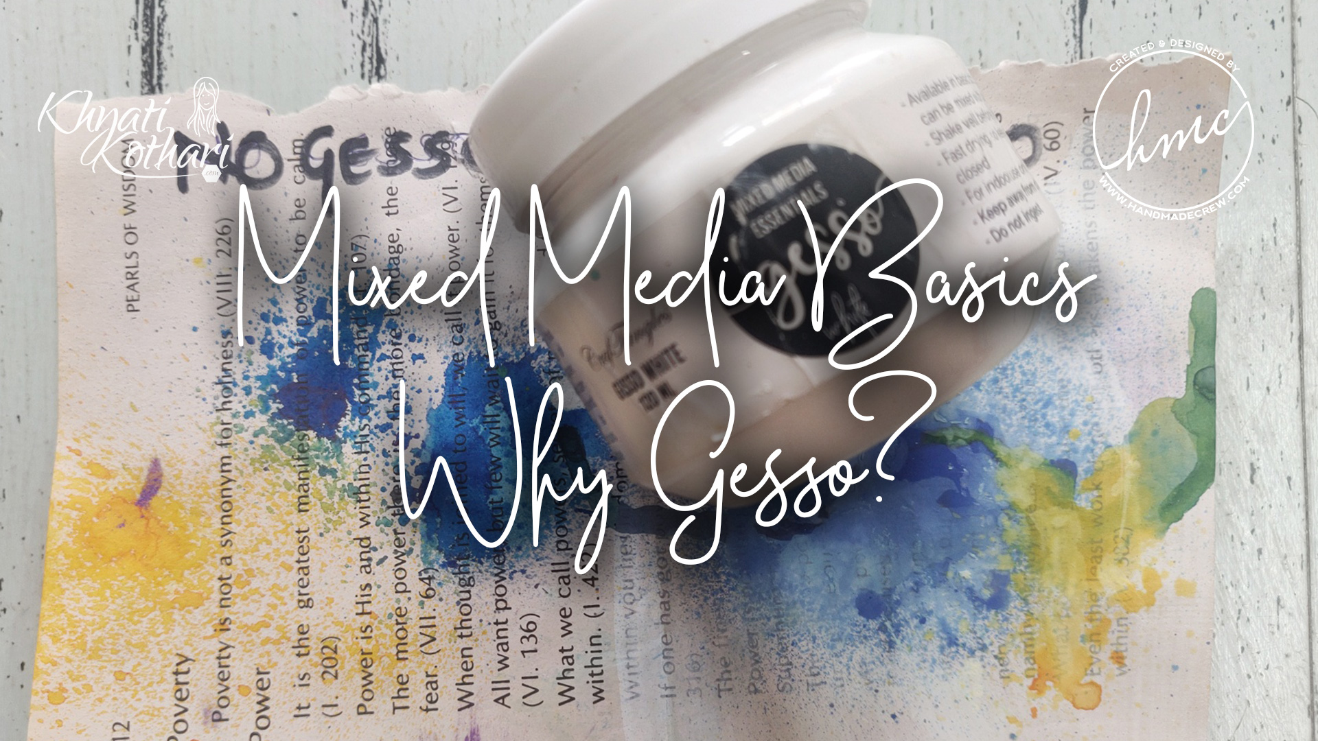 Mixed media Basics - Why use Gesso 6