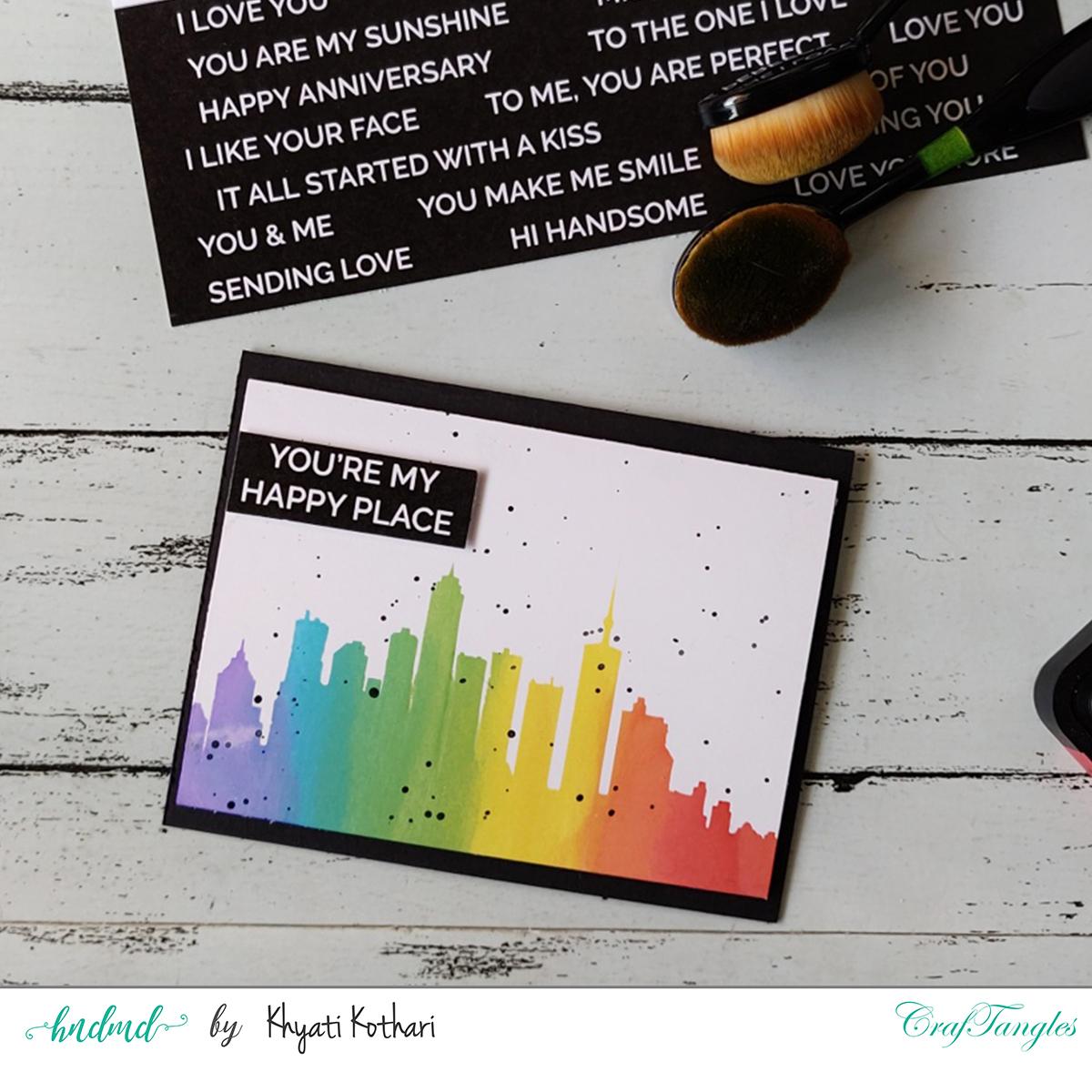easy stencil card