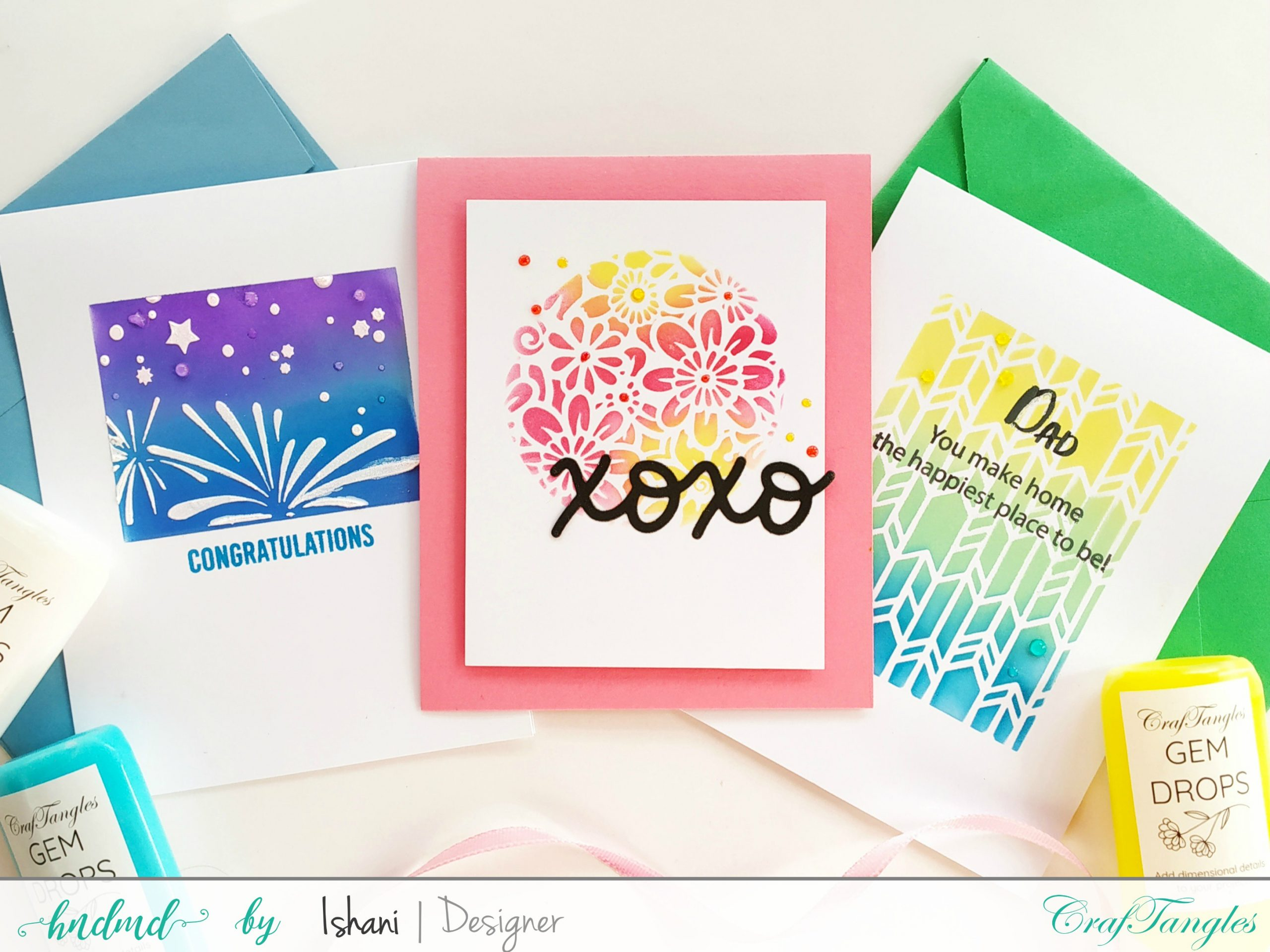 Layered Stencils cards