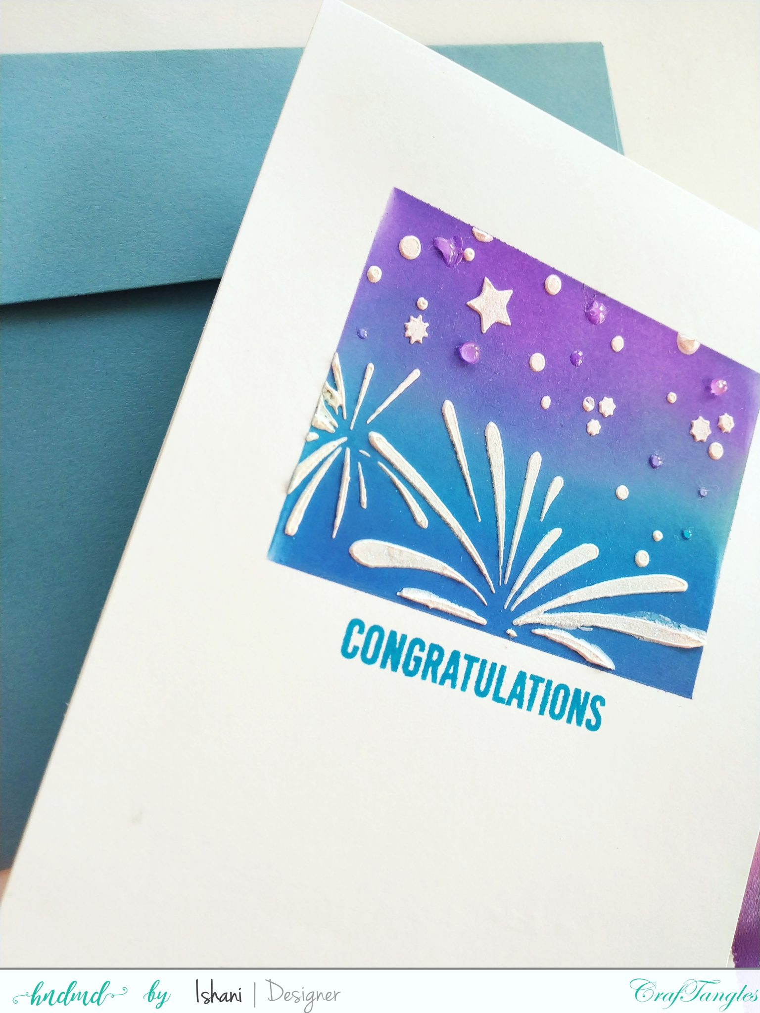 Layer those Stencils for Clean and simple cards 5