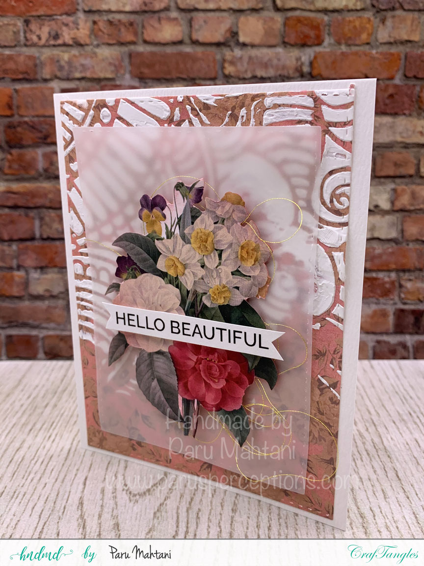 3 fun cards using texture paste, stencils and patterned paper 2