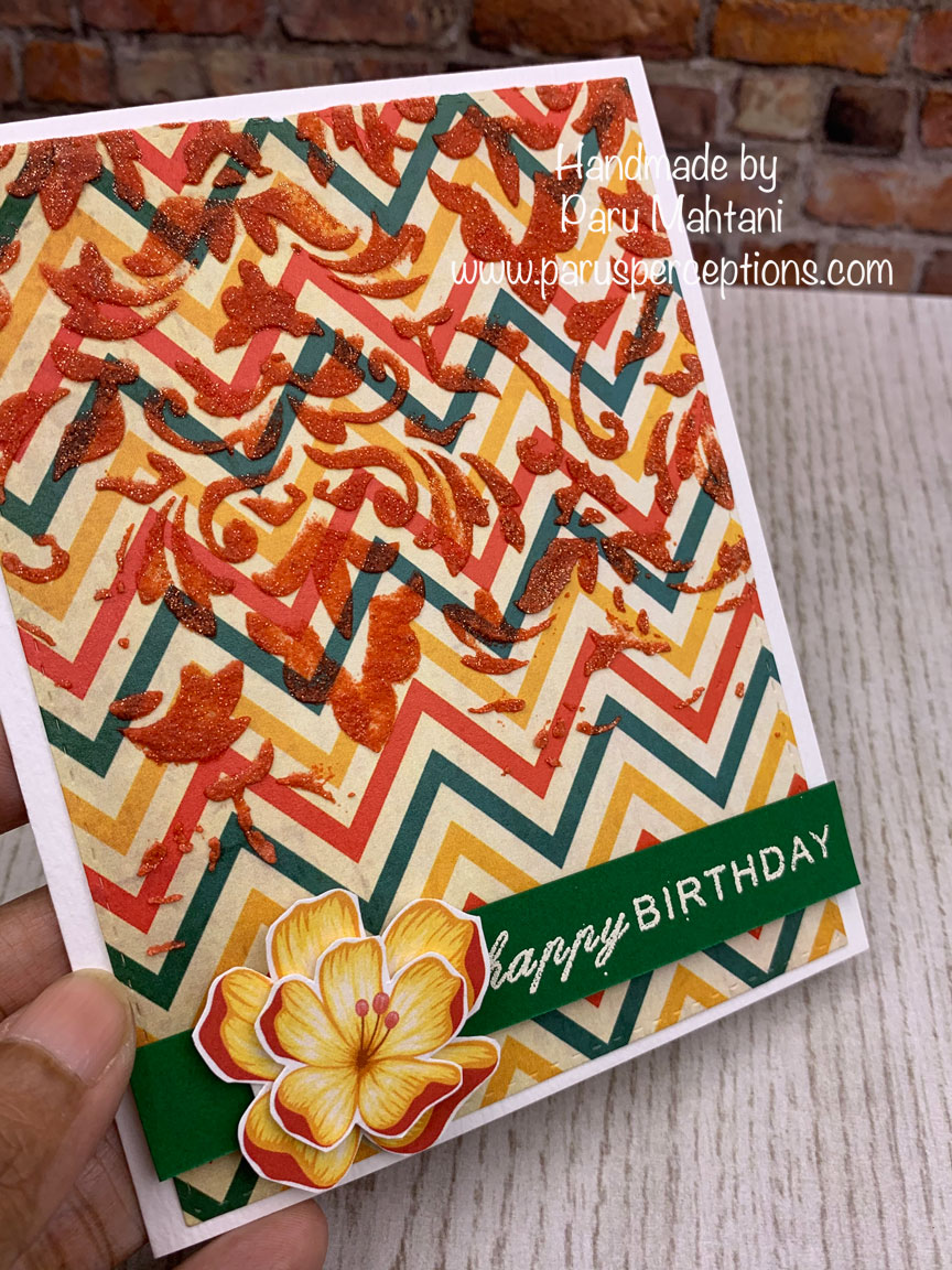 3 fun cards using texture paste, stencils and patterned paper 4