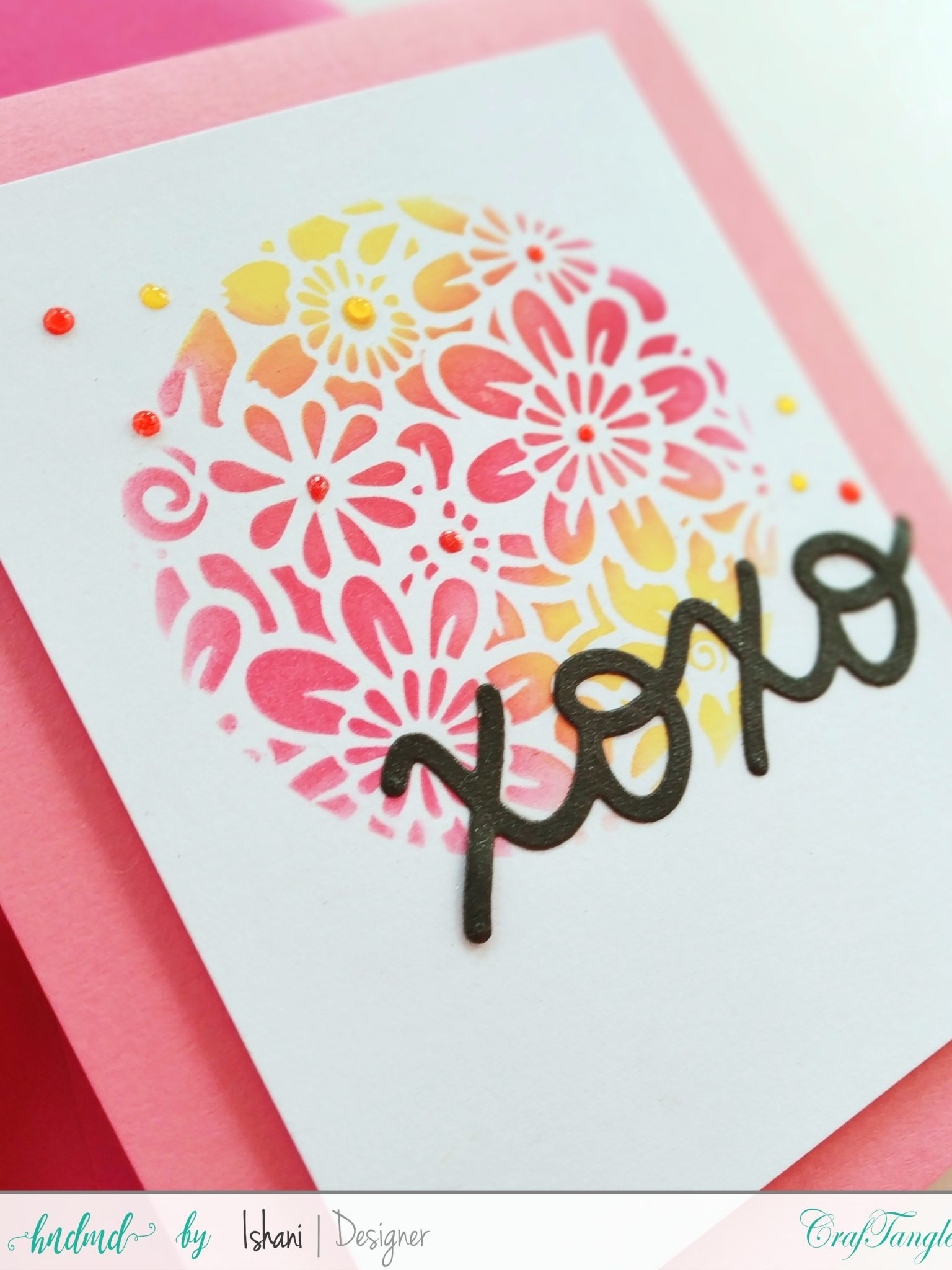 Layer those Stencils for Clean and simple cards 1