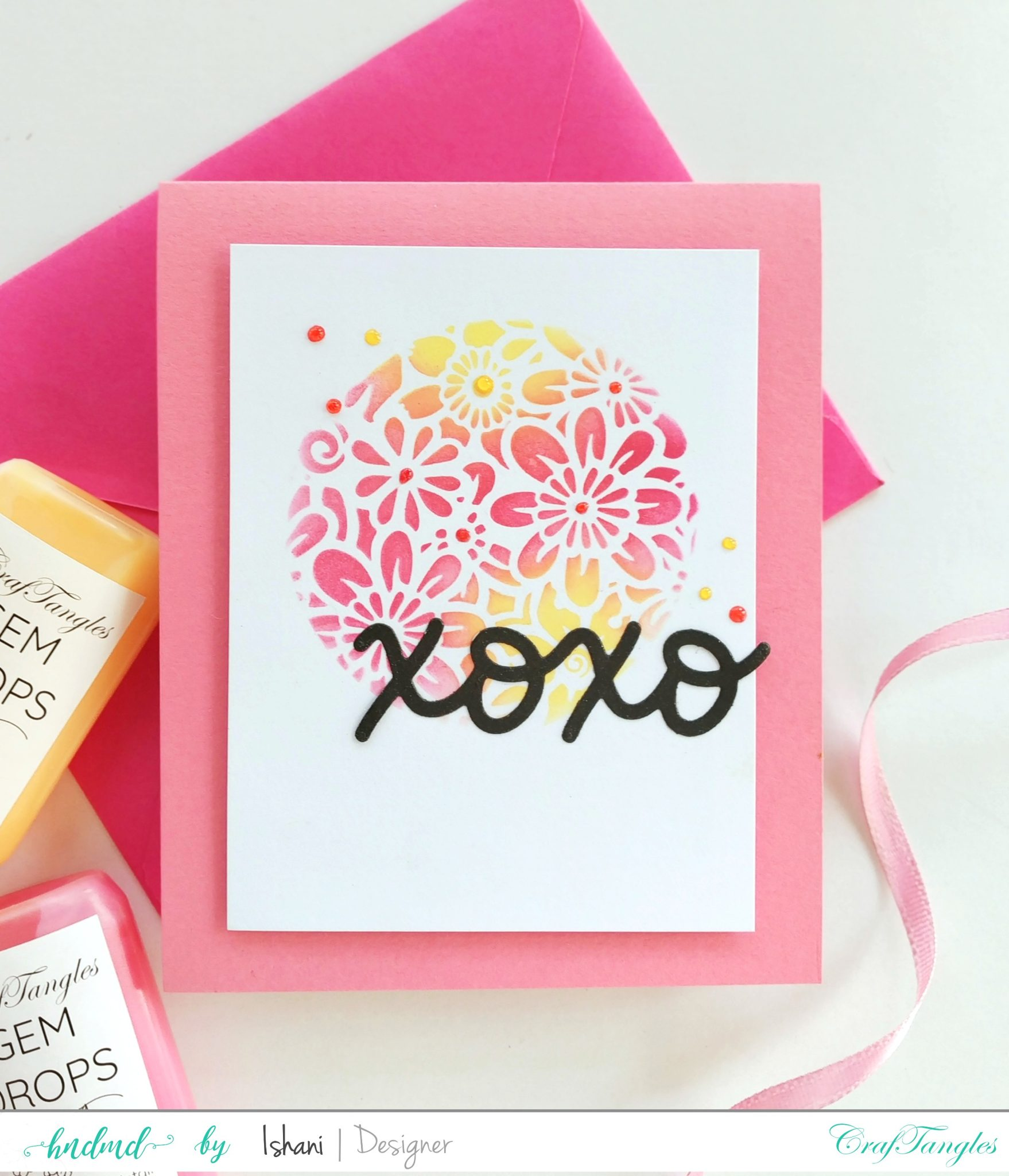 Layer those Stencils for Clean and simple cards 2