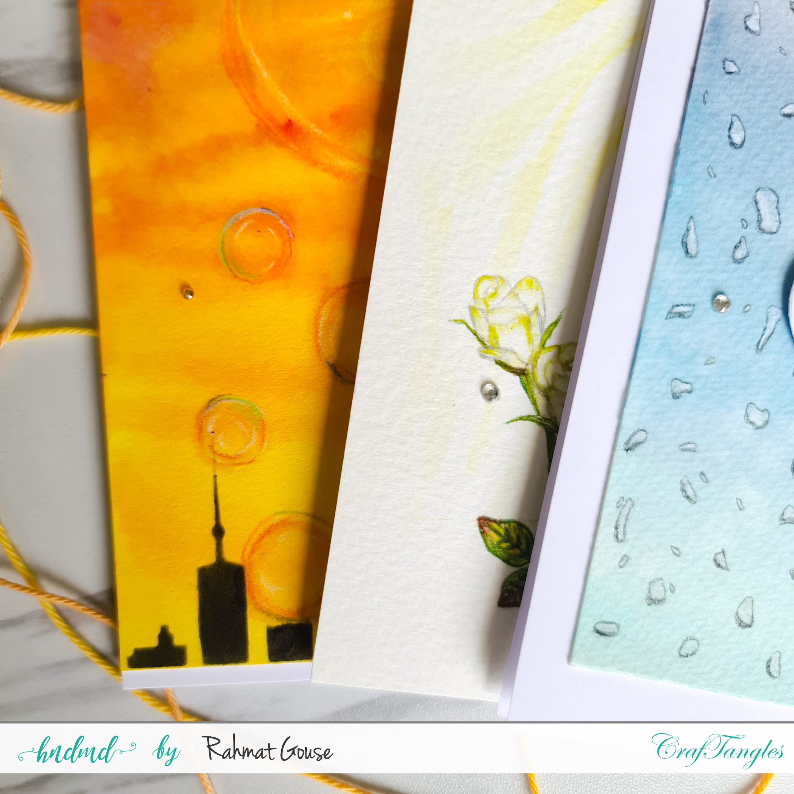 3 bright seasonal handmade cards 6