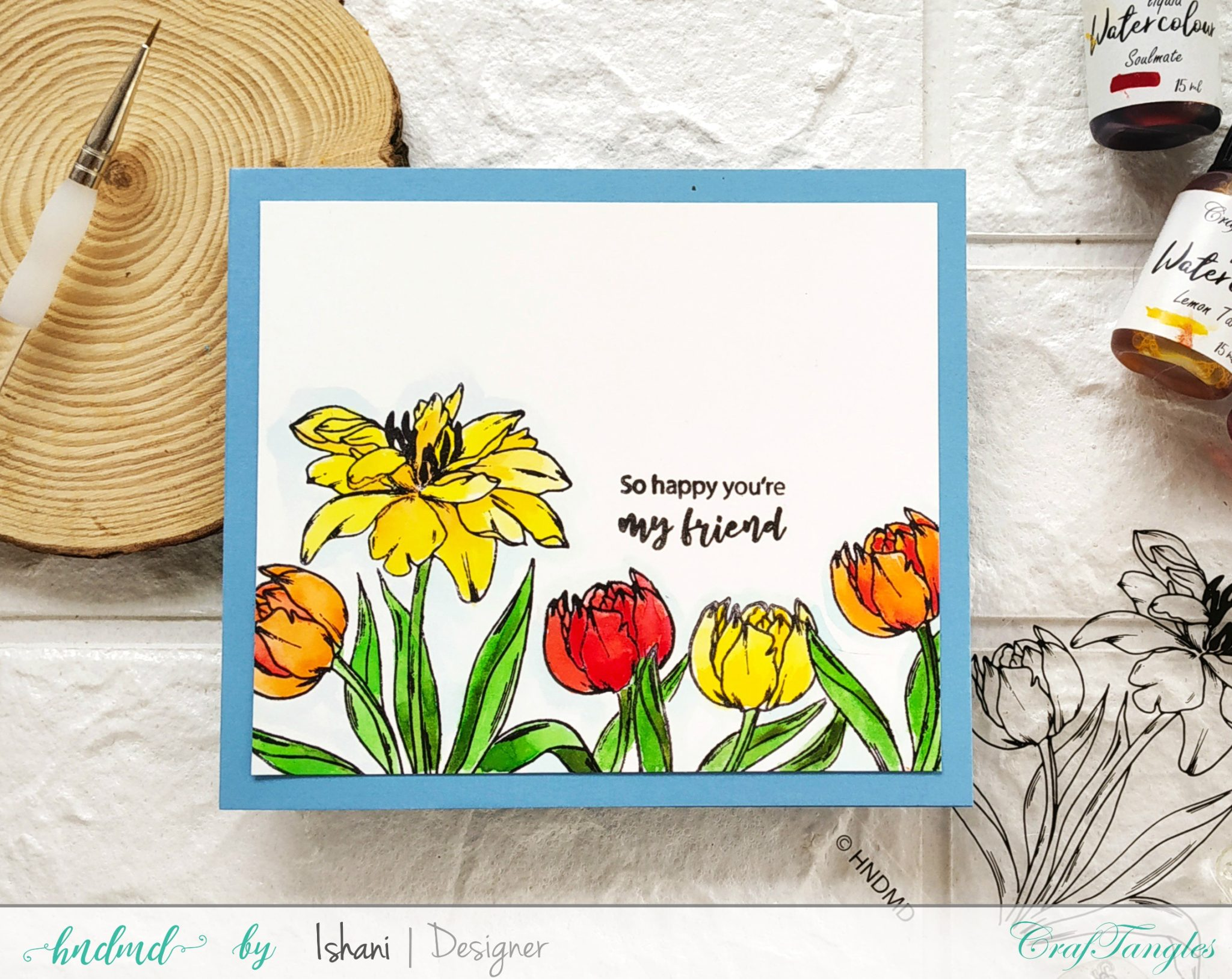 3 Creative ideas for Floral cards using 1 stamp 4