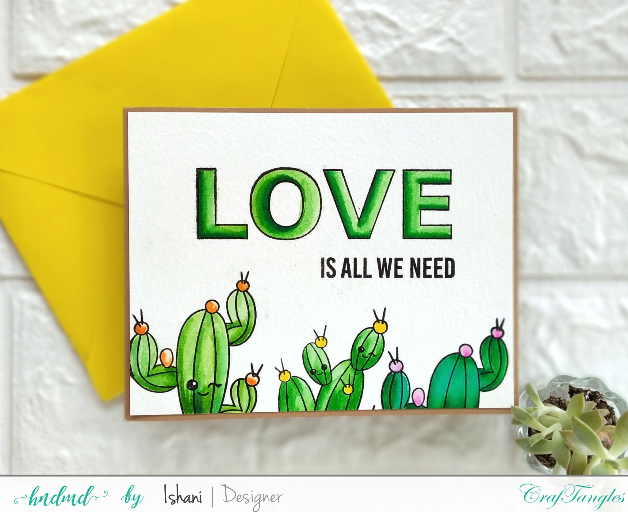 3 Cute cards with cactus for sending love 7