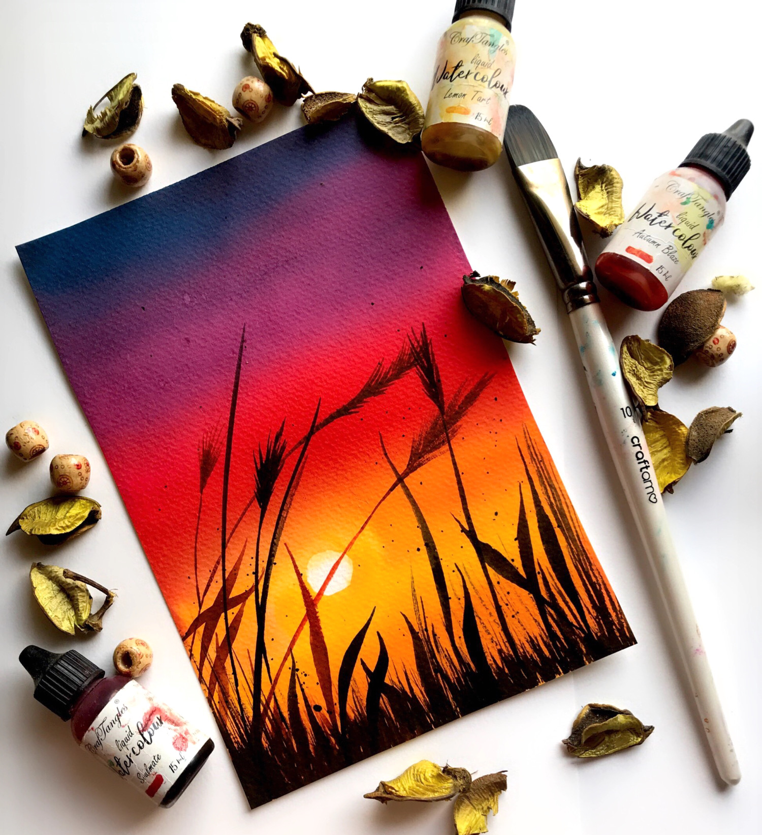 Gorgeous Sunset - Watercolor edition 3