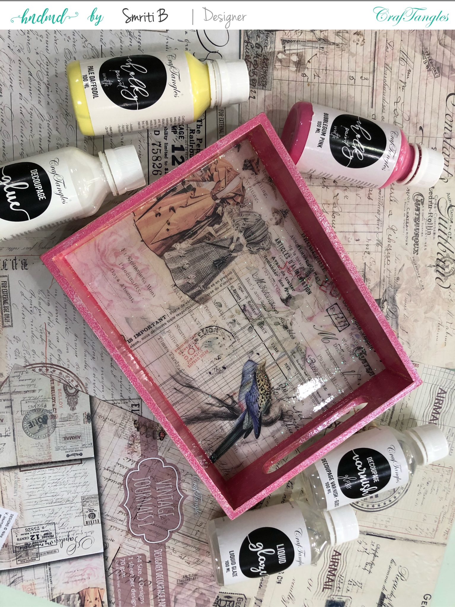 Cutest Admirable Decoupage Tray on its way 1.0 4