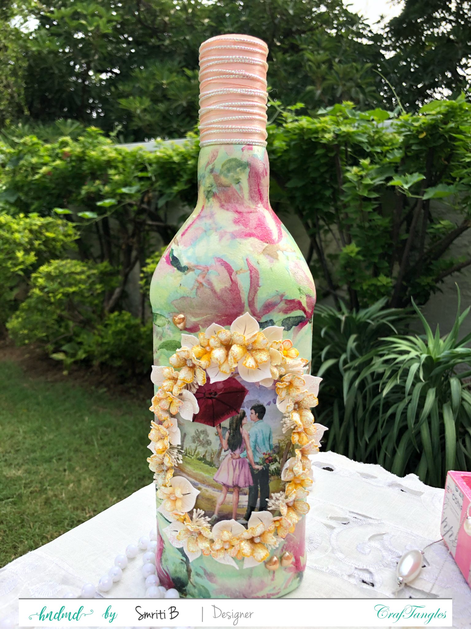 EMPTY BOTTLE CALLS FOR A DECOUPAGE MAKEOVER 4