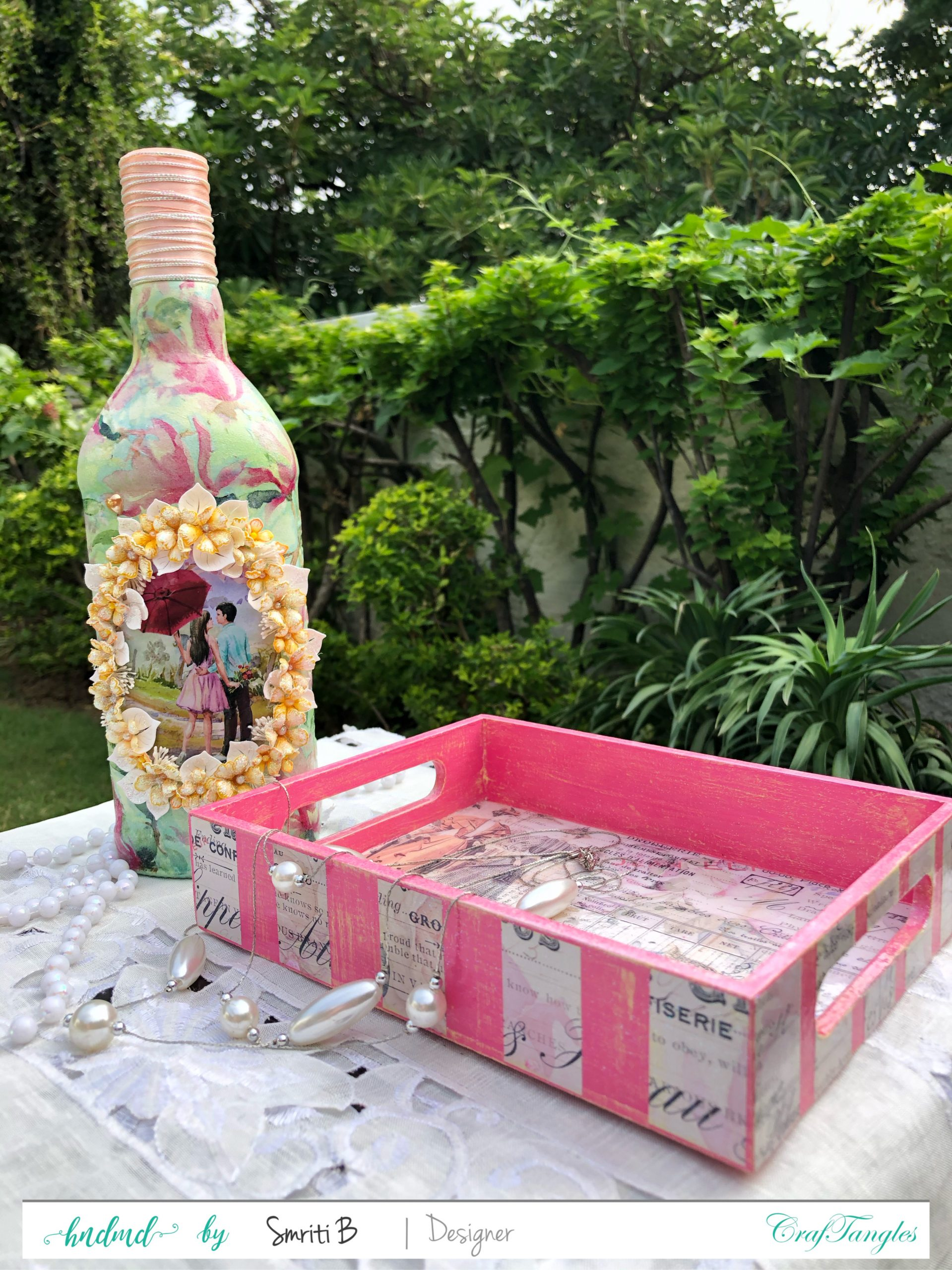 EMPTY BOTTLE CALLS FOR A DECOUPAGE MAKEOVER 1