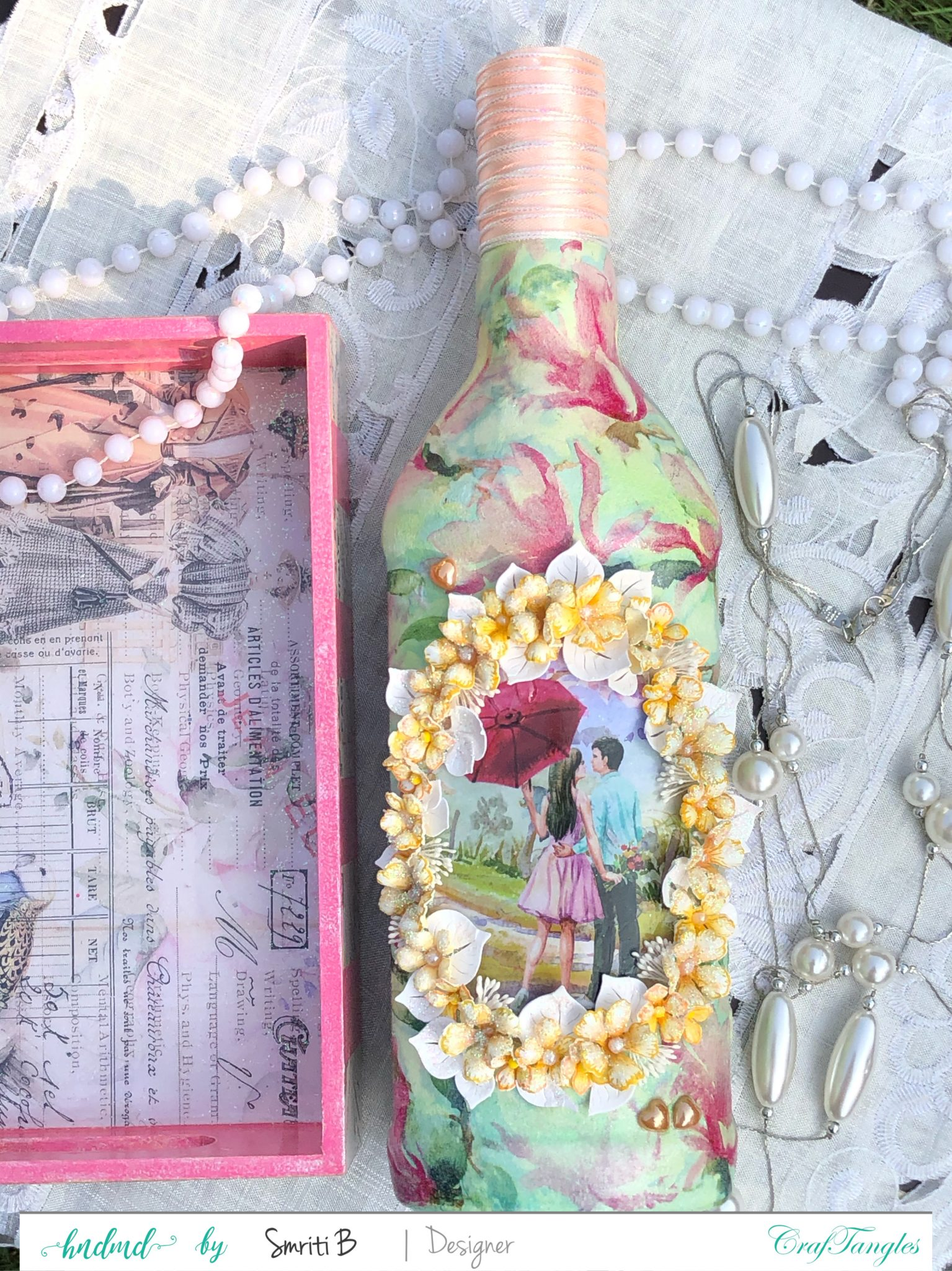 EMPTY BOTTLE CALLS FOR A DECOUPAGE MAKEOVER 2