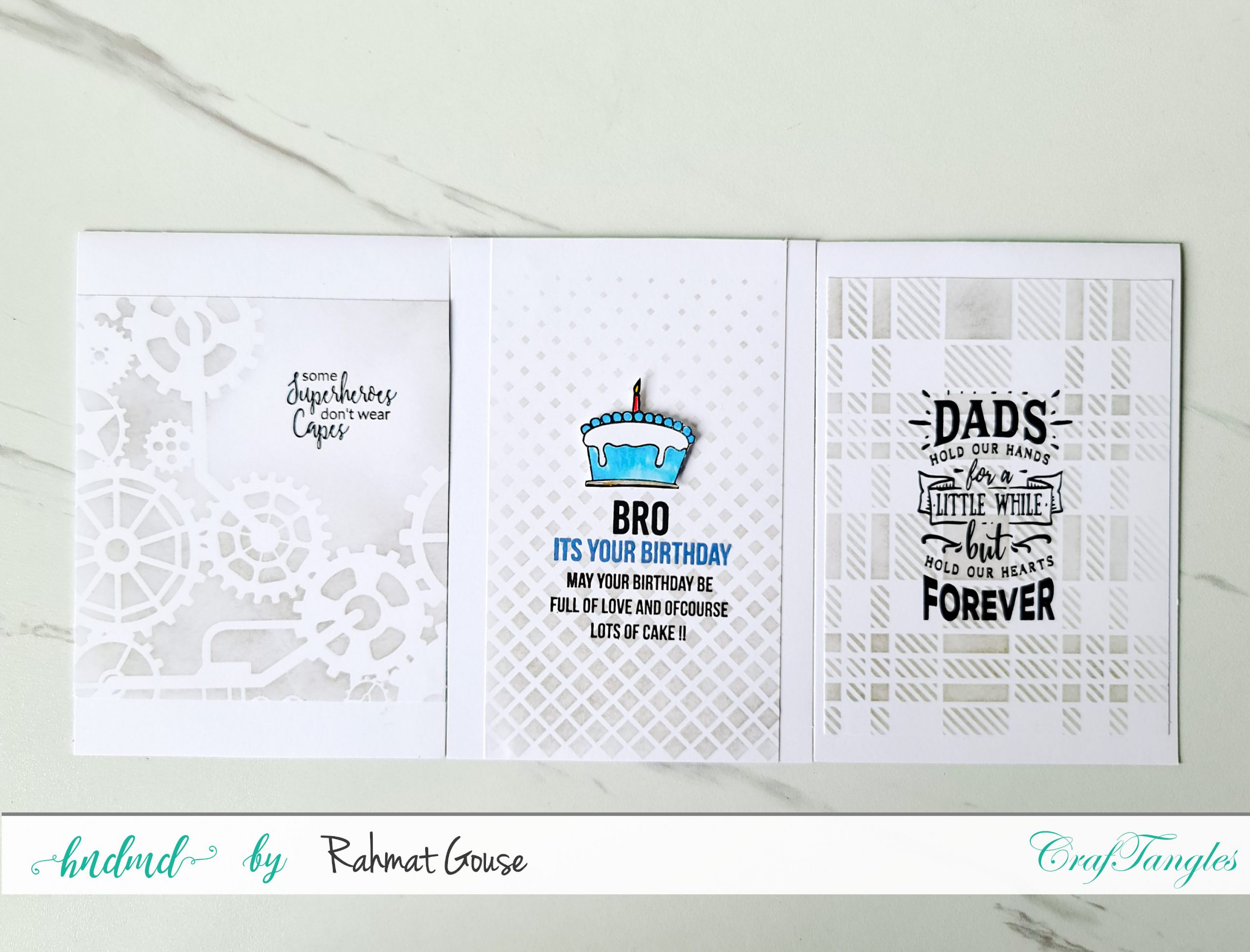 3 Stylish Masculine Cards 2