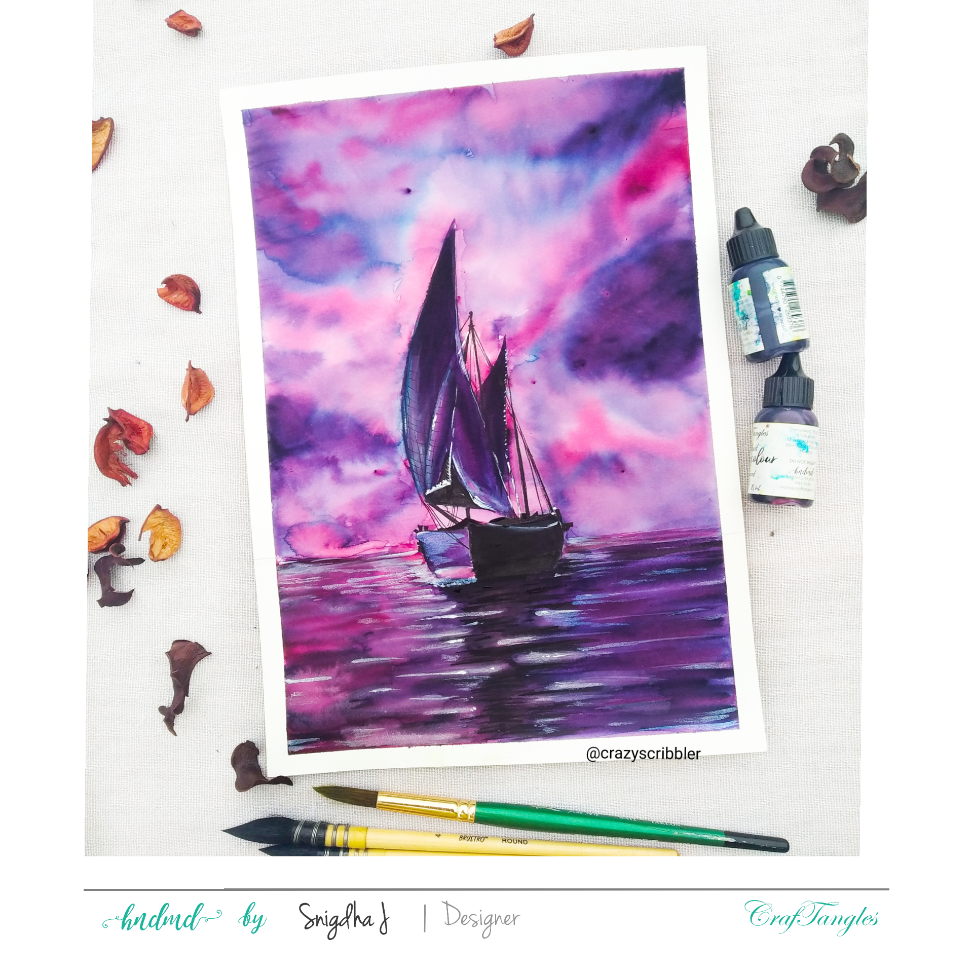 Watercolor Tutorial - Mesmerizing Lighthouse and Powerful boat 6