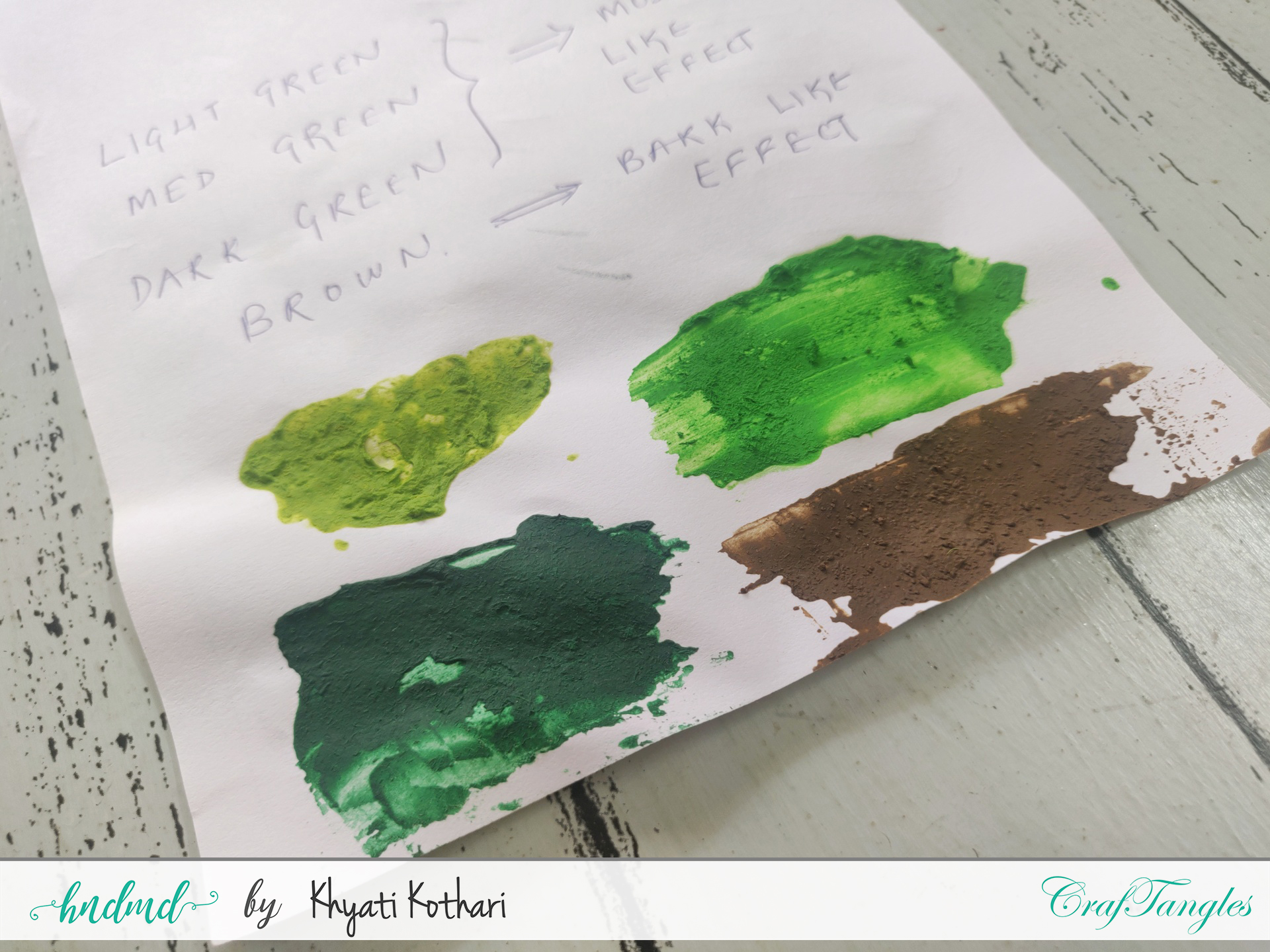 Mixed Media Basics - Moss Effect Paste Introduction 1
