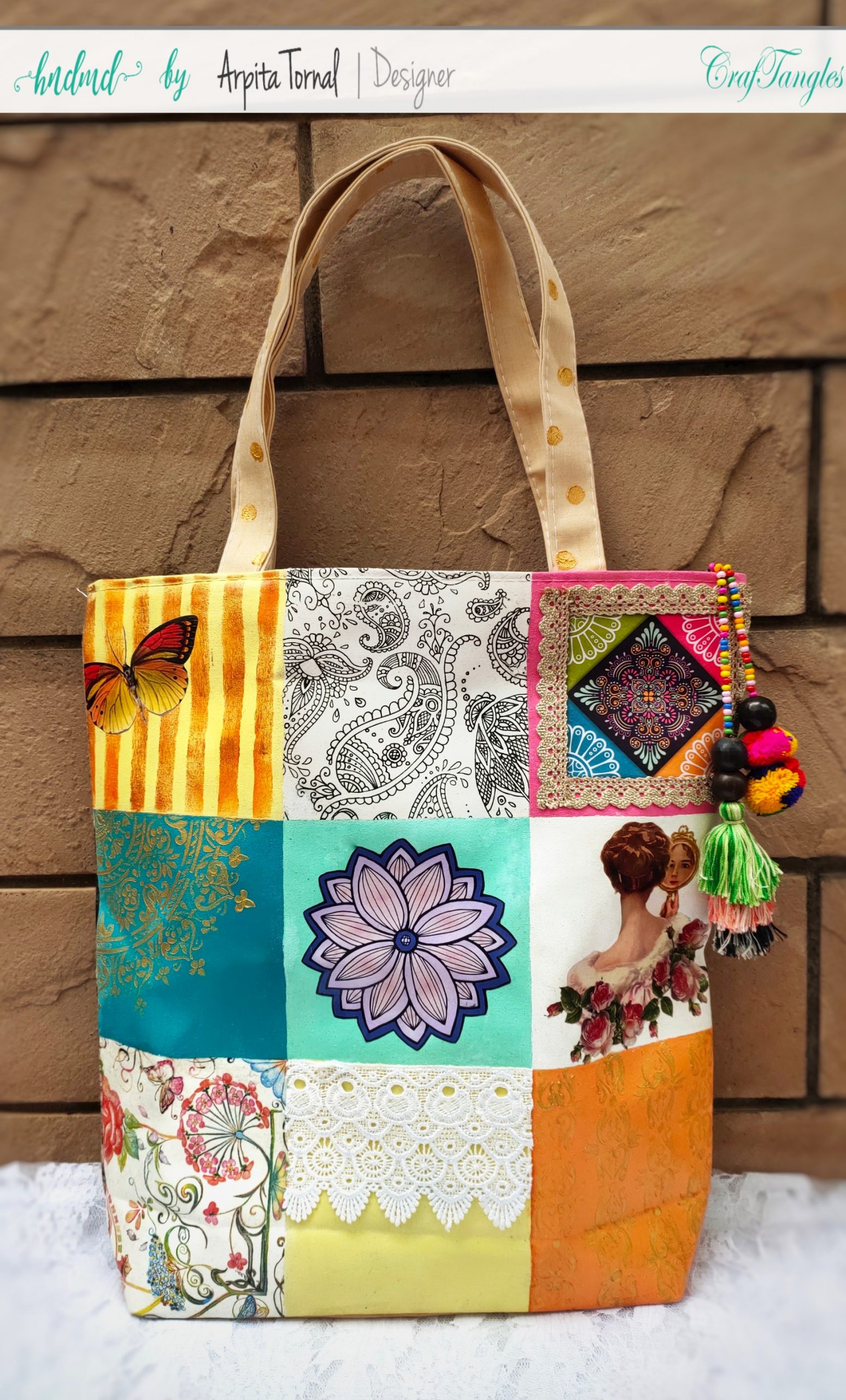 A Beautiful Decoupage'd Tote Bag 5