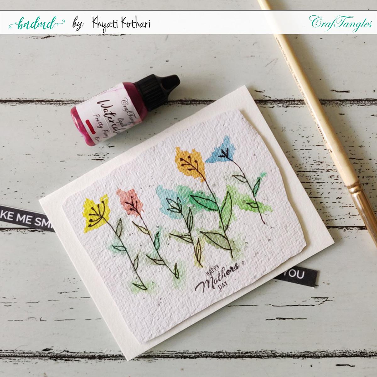 doodle watercolor