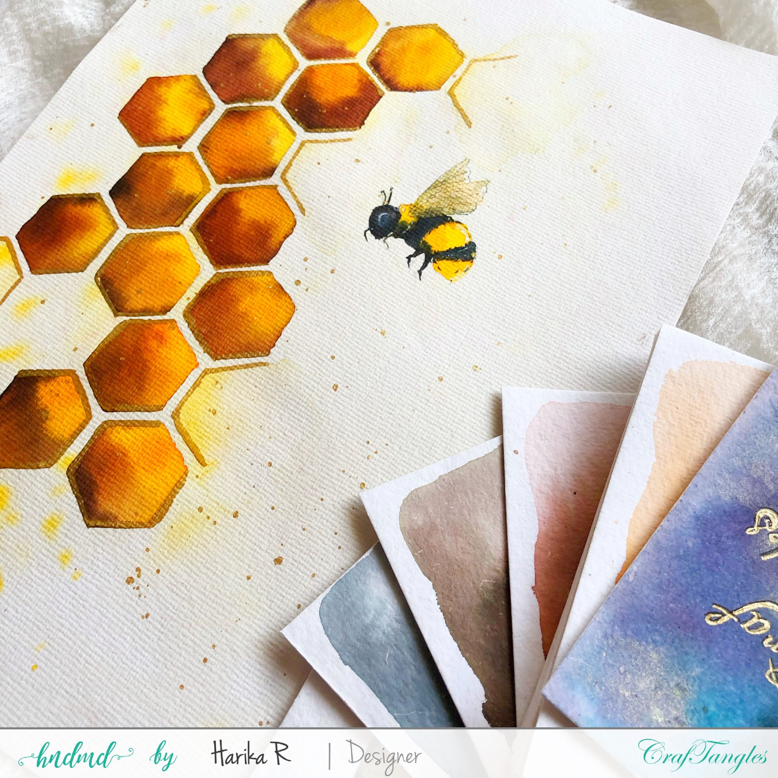 Beautiful Honey Comb (Watercolor Honey Bee Edition) 3