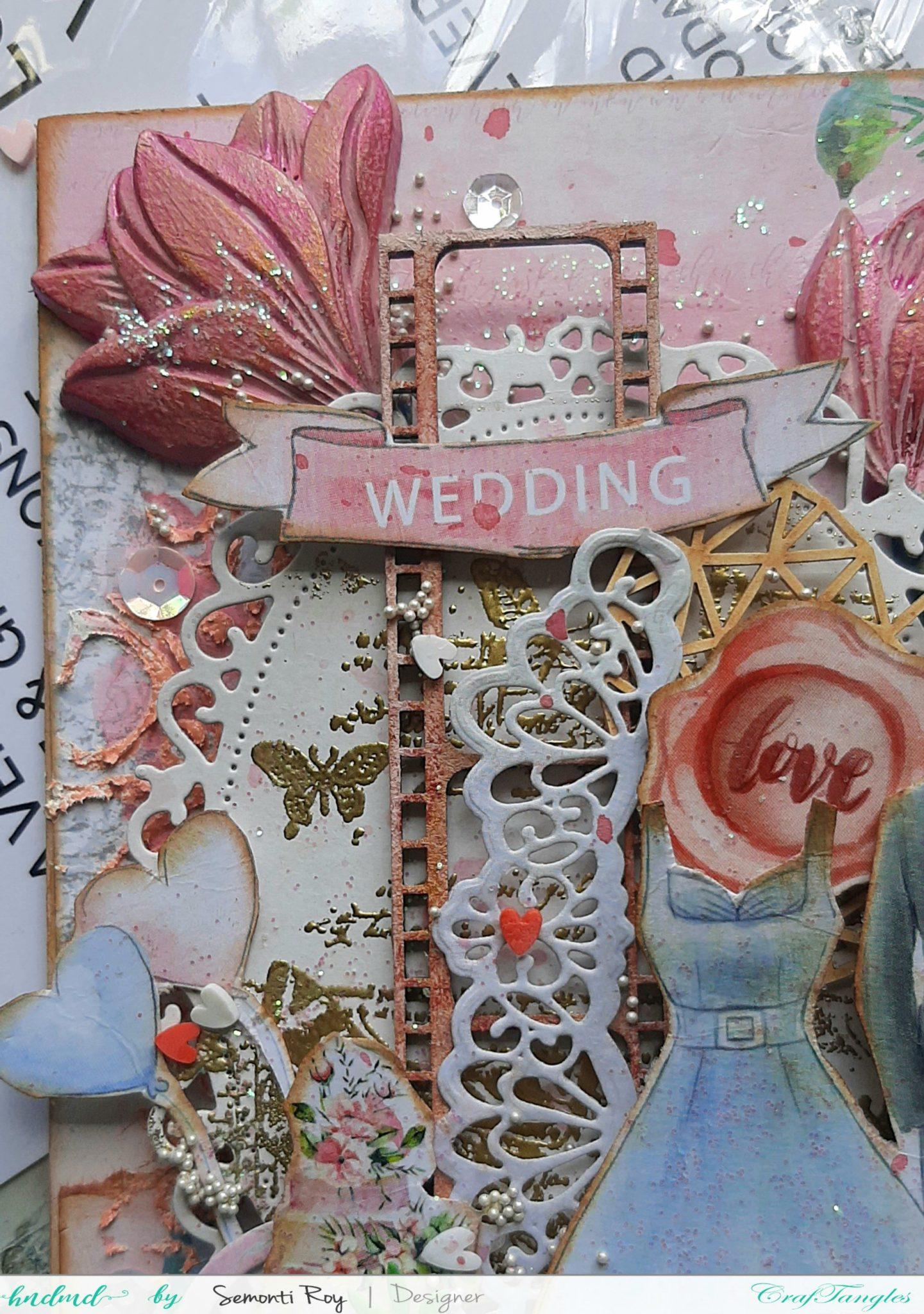 Romantic Pastel Mixed Media Wedding Panel 4