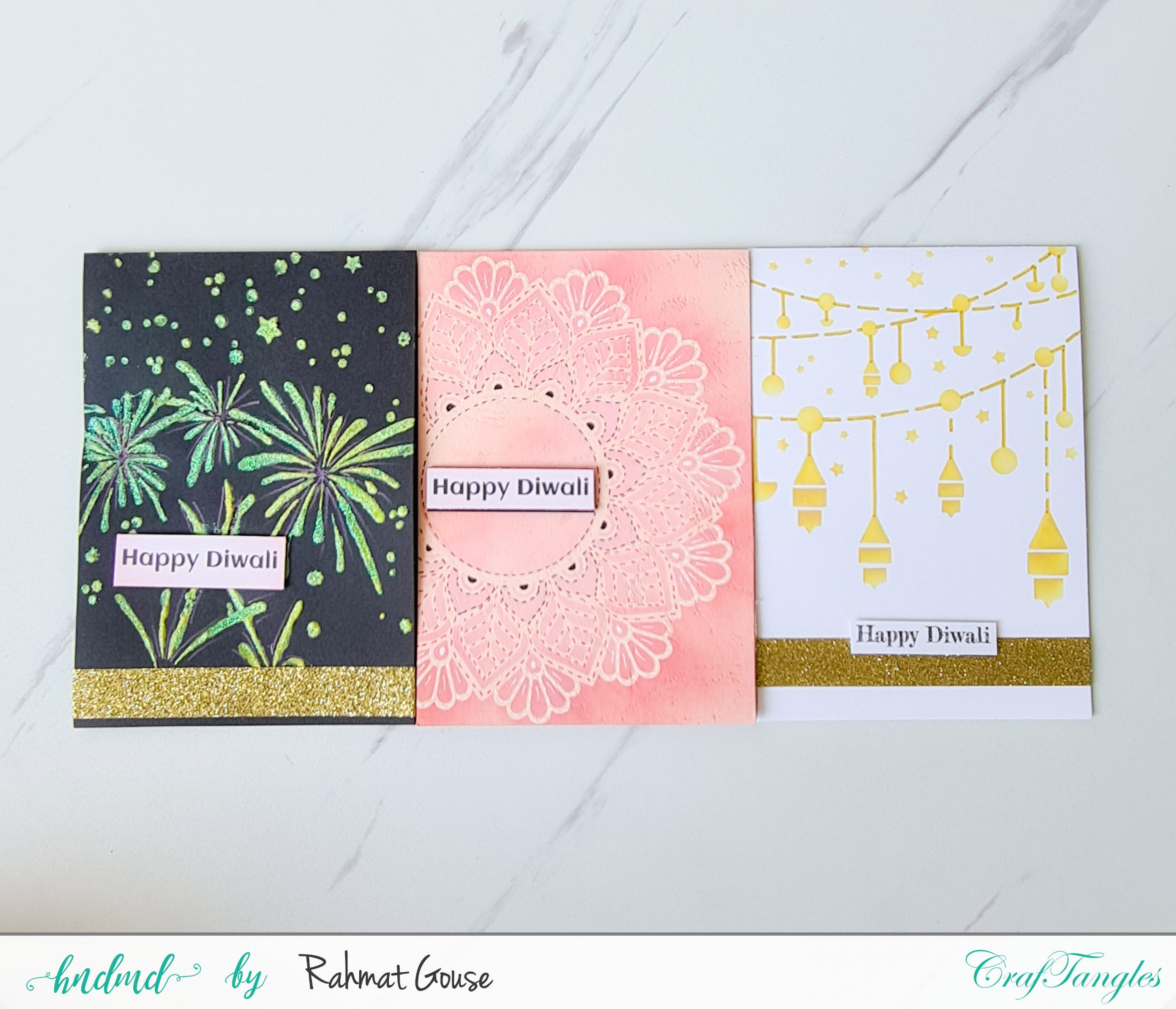 3 Diwali cards super quick and easy ones 1