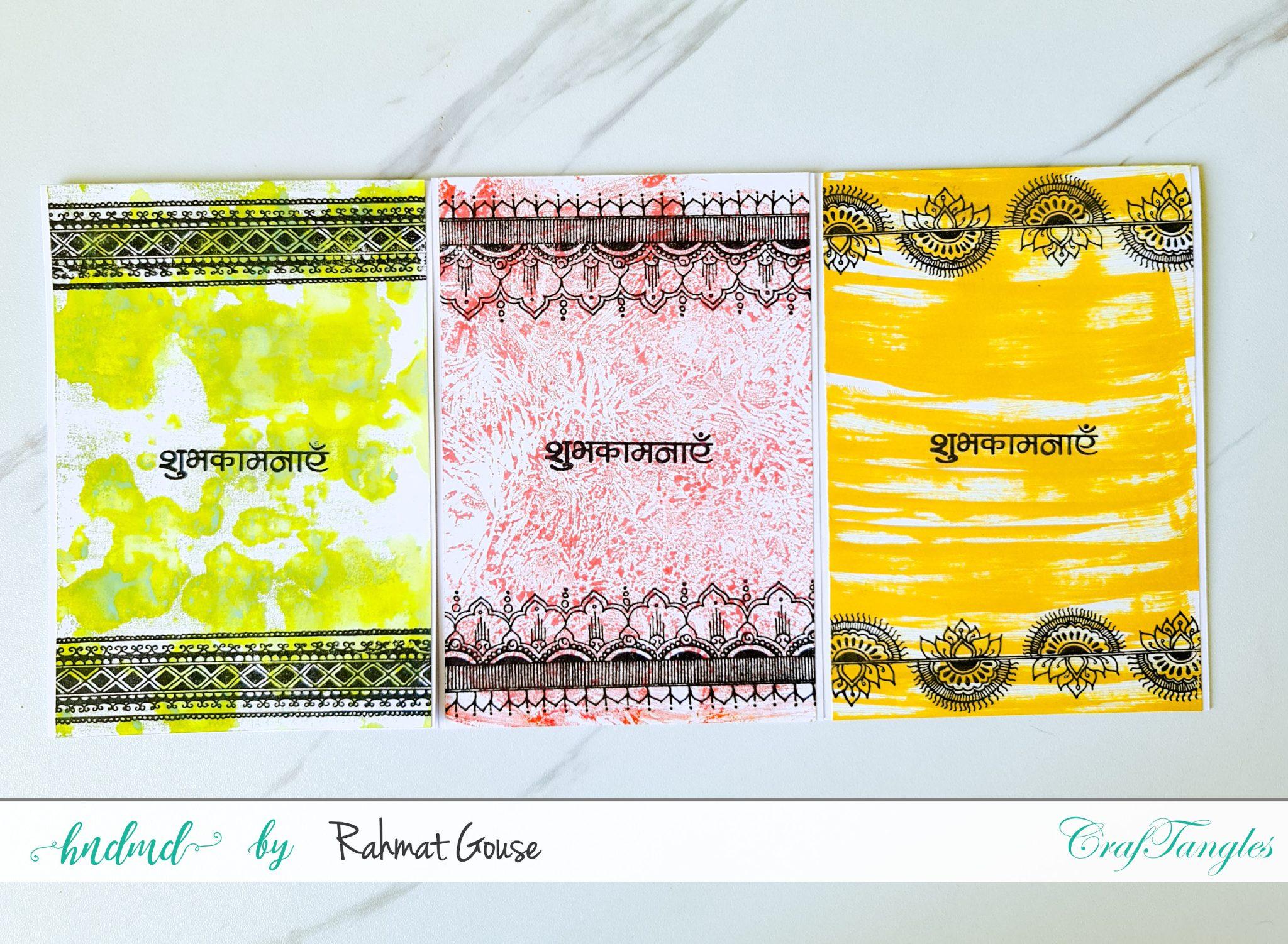 3 ink smoosh cards