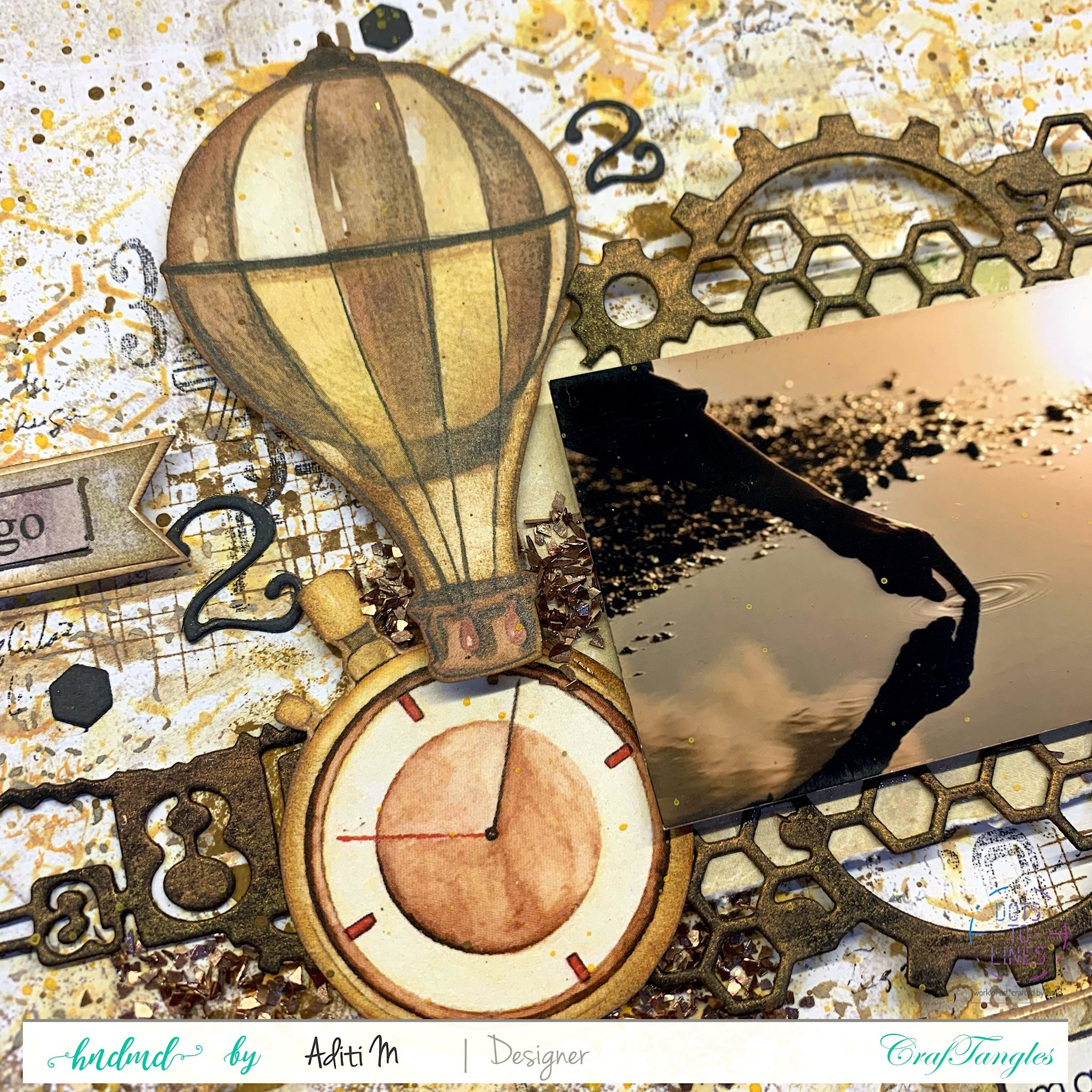 In the Air- Mixed Media Layout 1