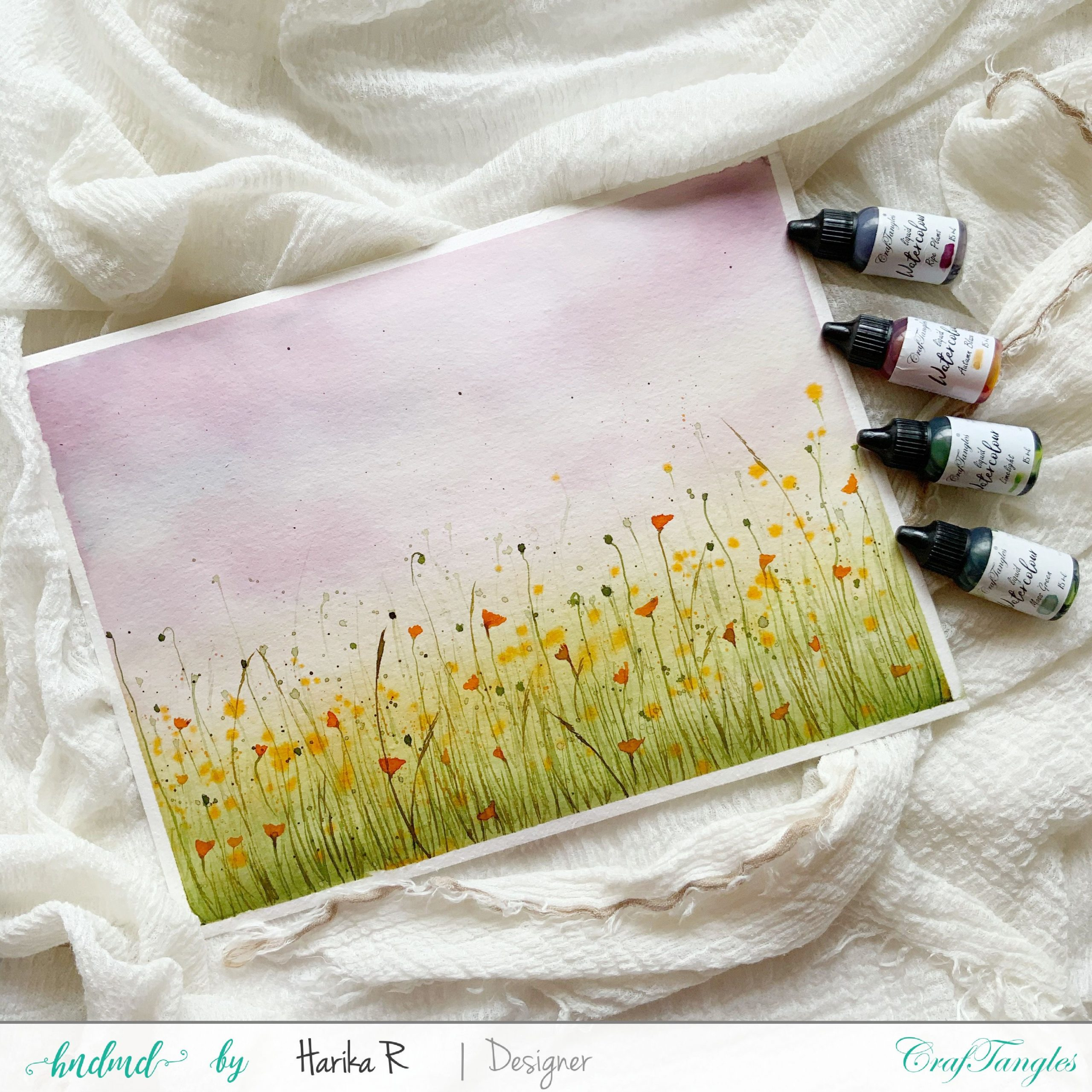 Beautiful Spring Field - Watercolor Edition 5