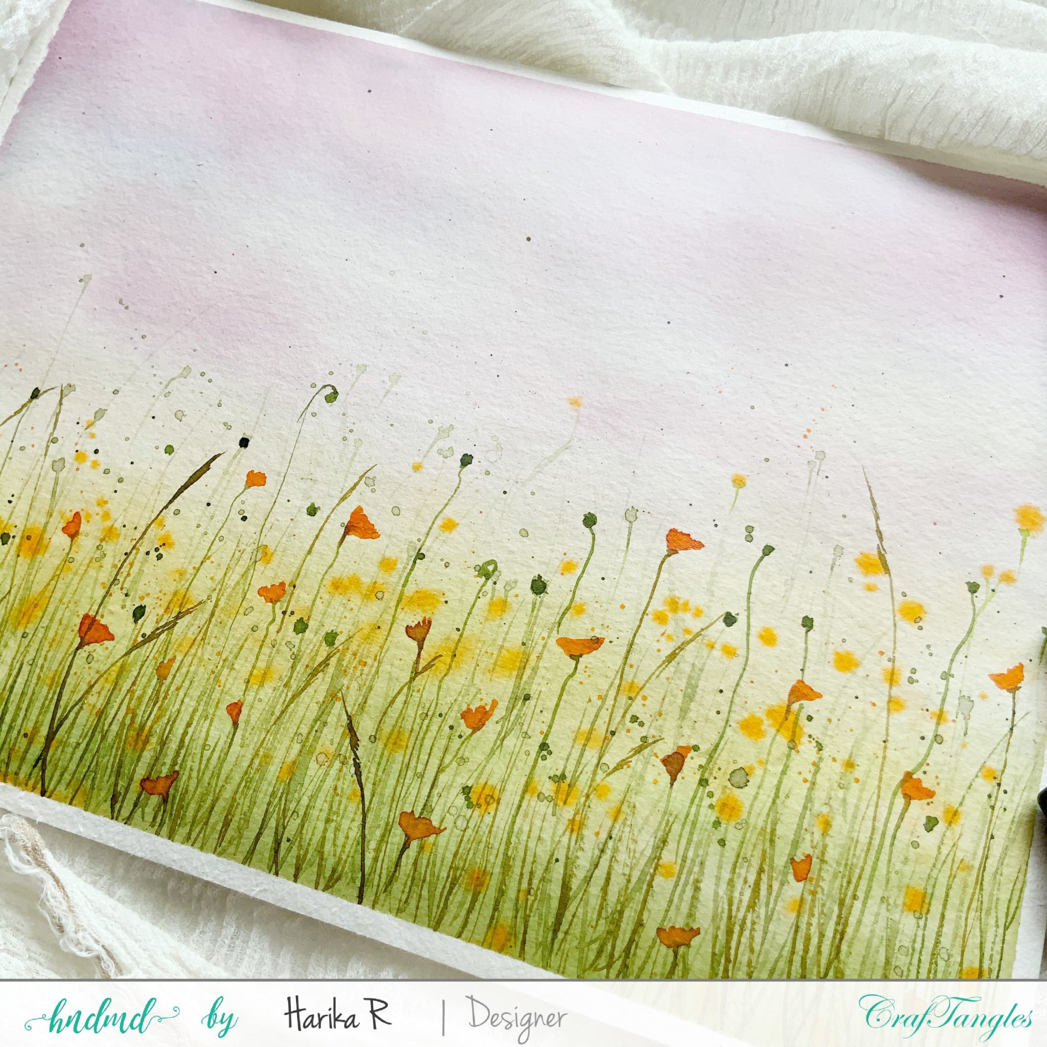 Beautiful Spring Field - Watercolor Edition 1